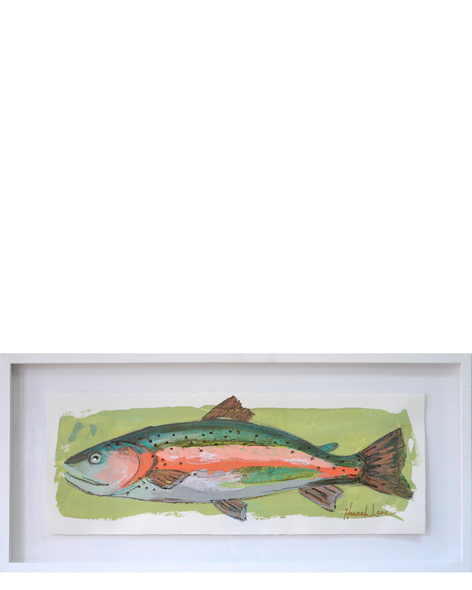"""Rainbow Trout"" by Hannah Lane,"