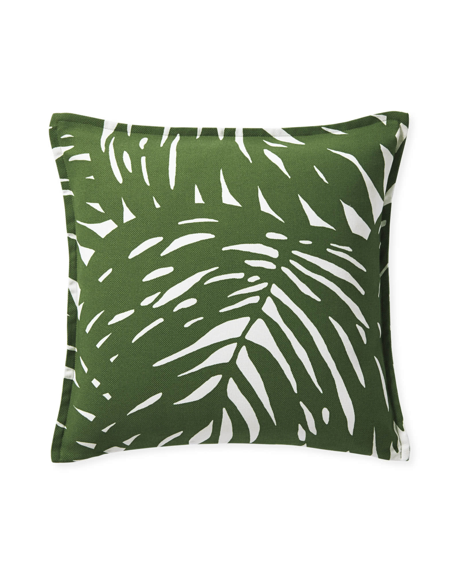 Palm Pillow Cover, Green