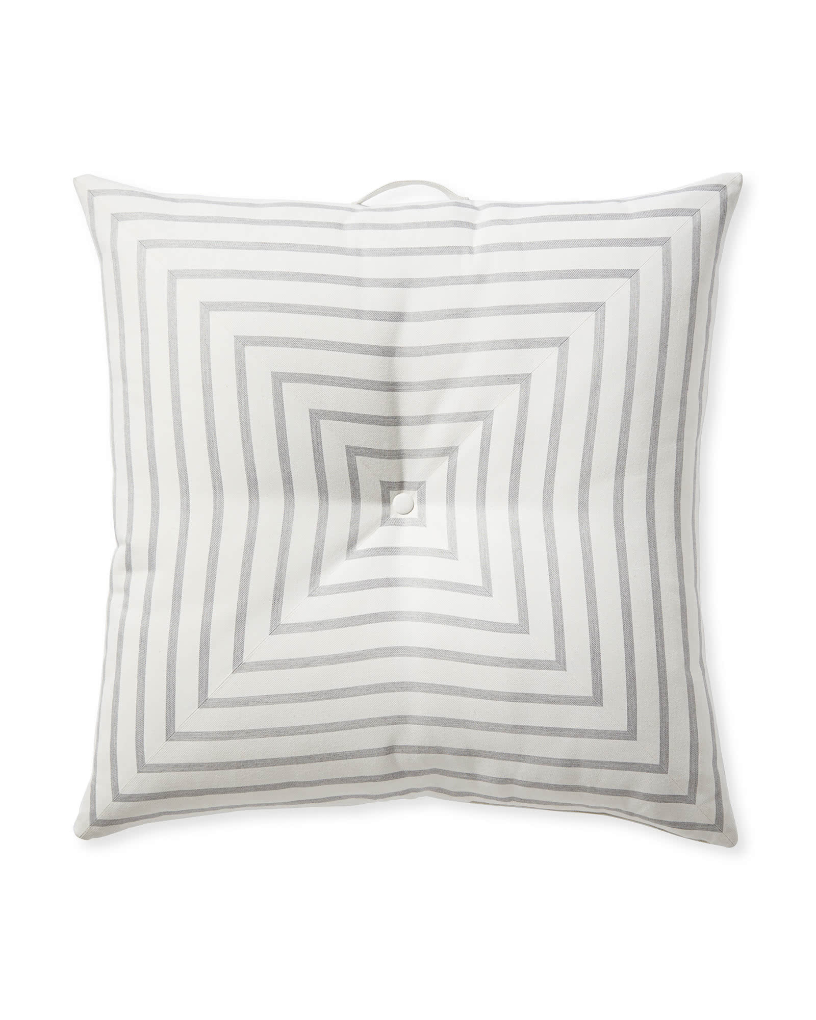 Harbour Island Floor Pillow, Lido Stripe Fog