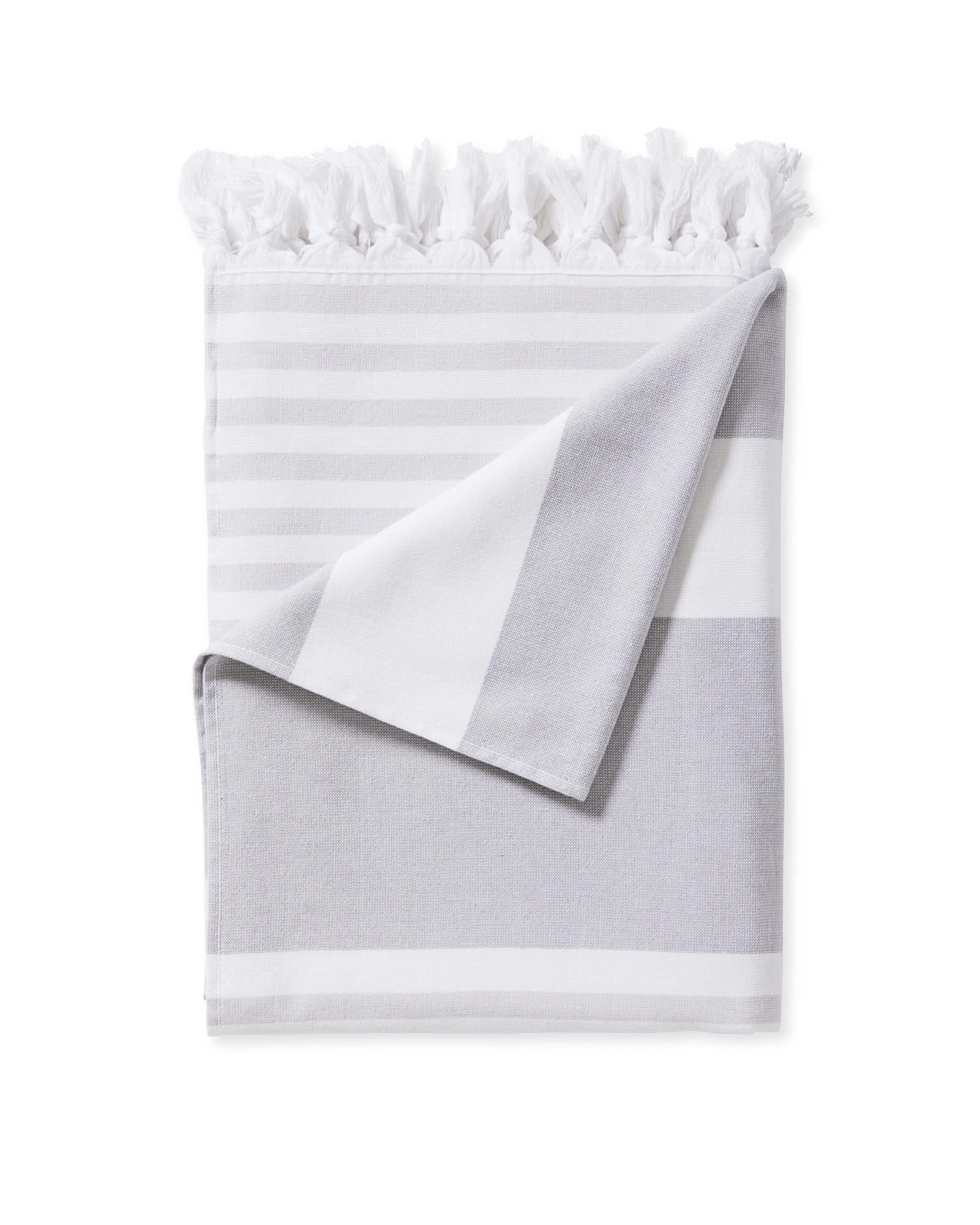 Capri Fouta Beach Towel, Pewter