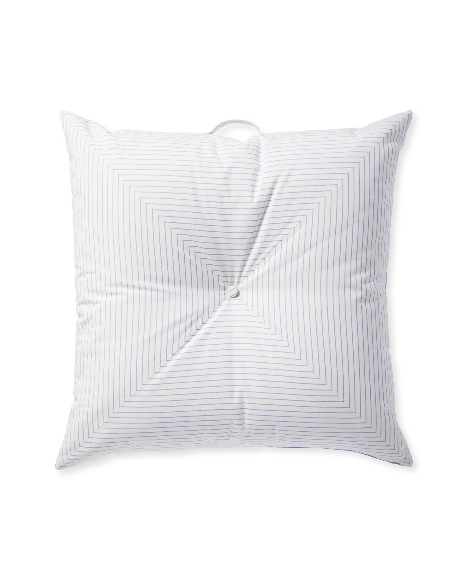 Harbour Island Floor Pillow, Chambray Stripe