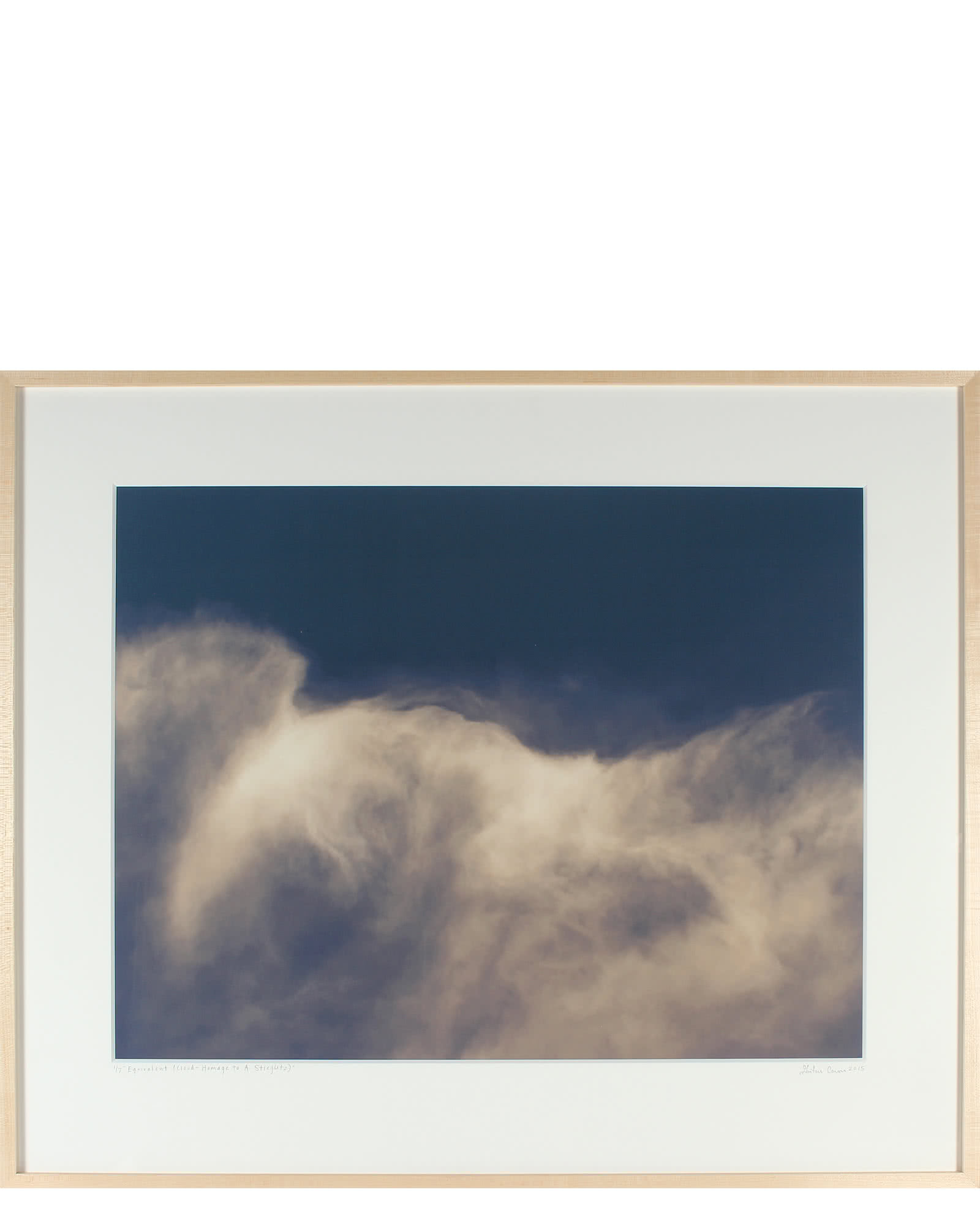 """Equivalent (Cloud - Homage to A. Stieglitz)"" by Gaetan Caron,"