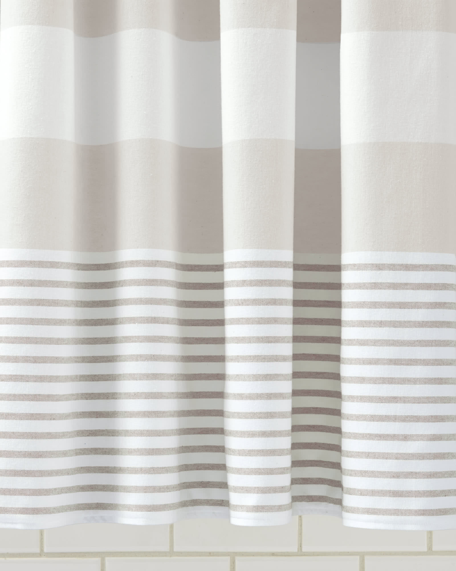 Fouta Shower Curtain - Bone,