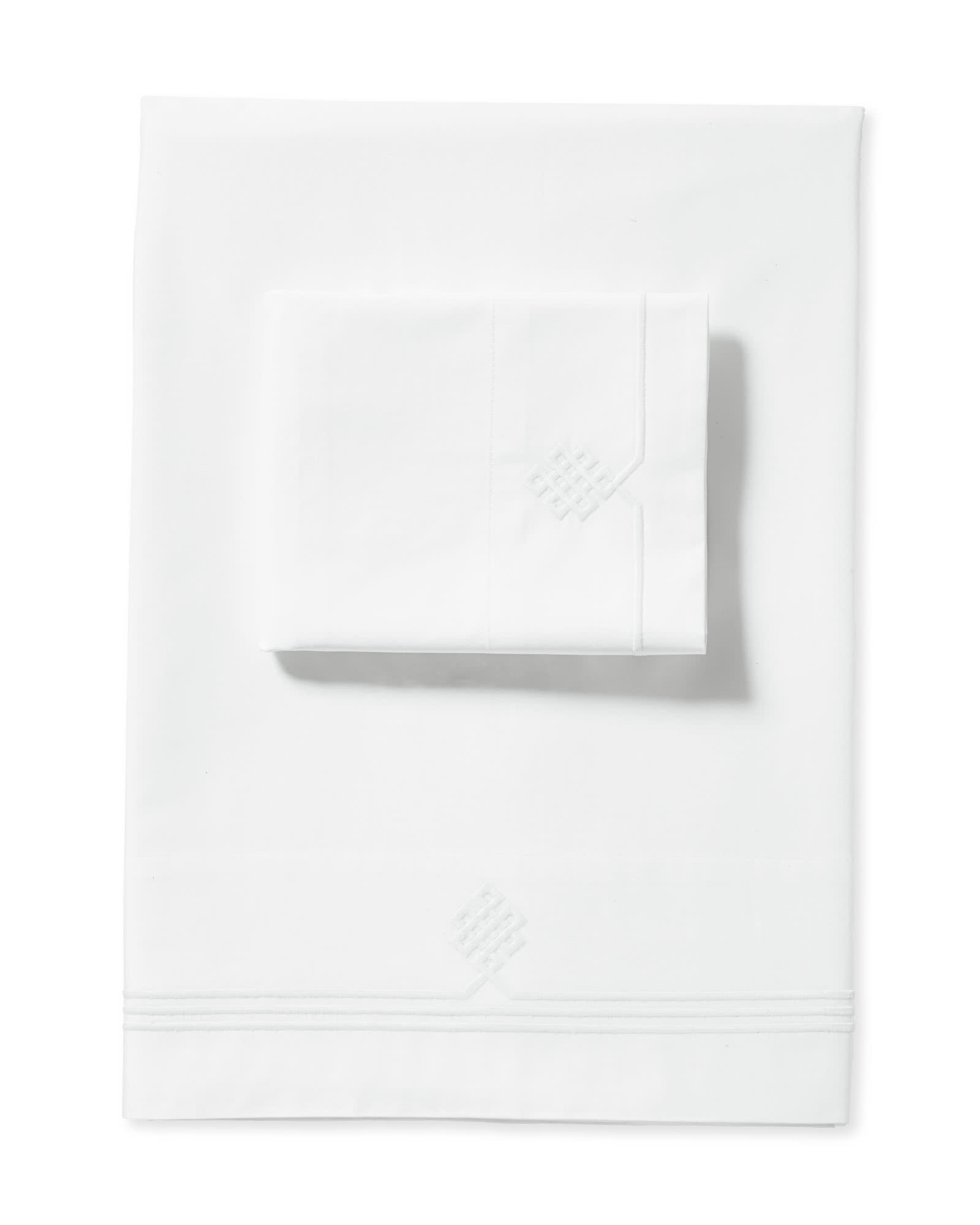 Gobi Embroidered Sheet Set, White