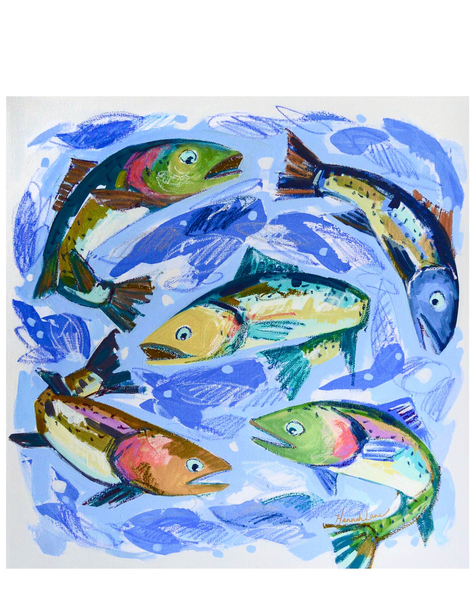 """Circle of Trout"" by Hannah Lane,"