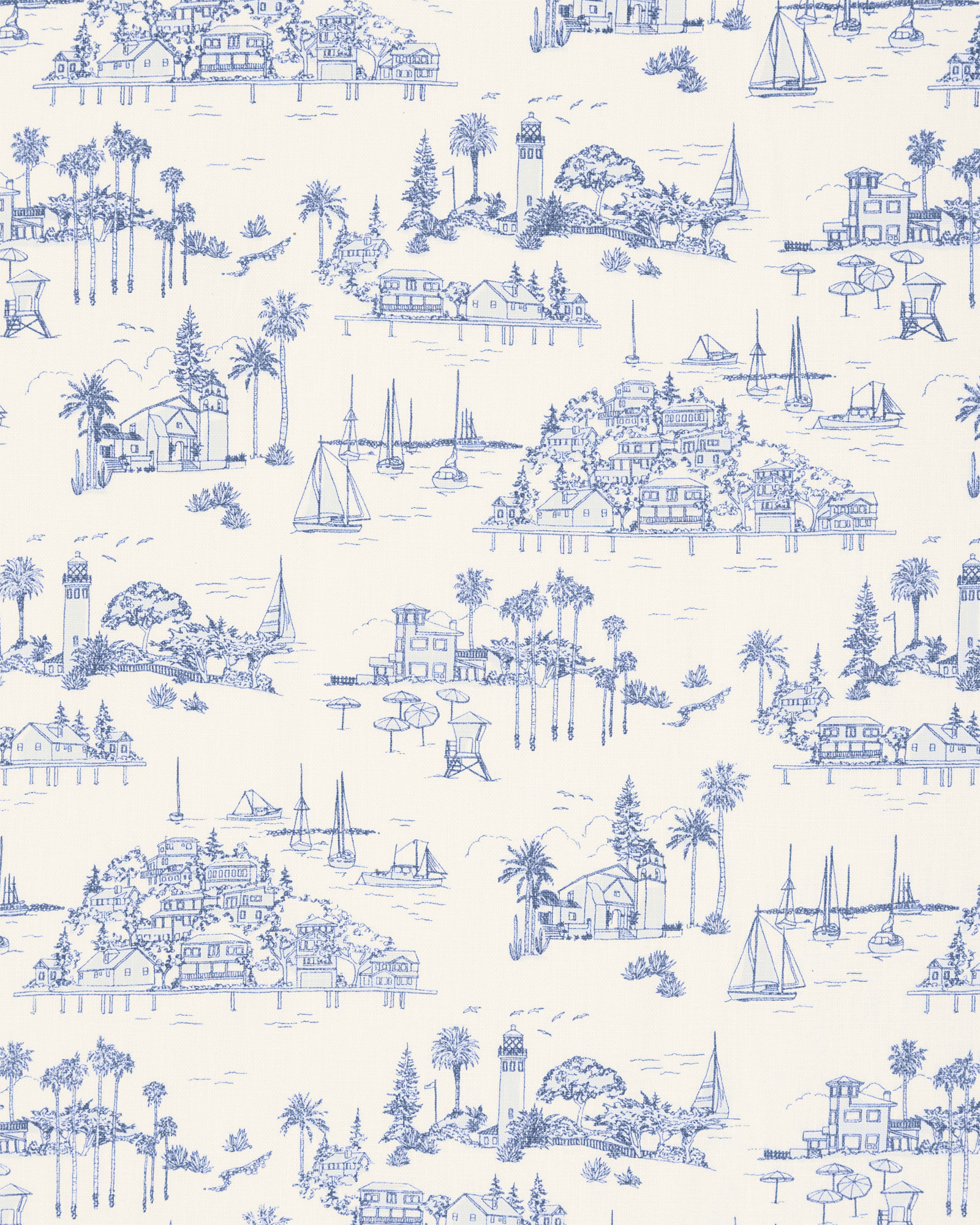 Seahaven Sheeting Swatch, French Blue