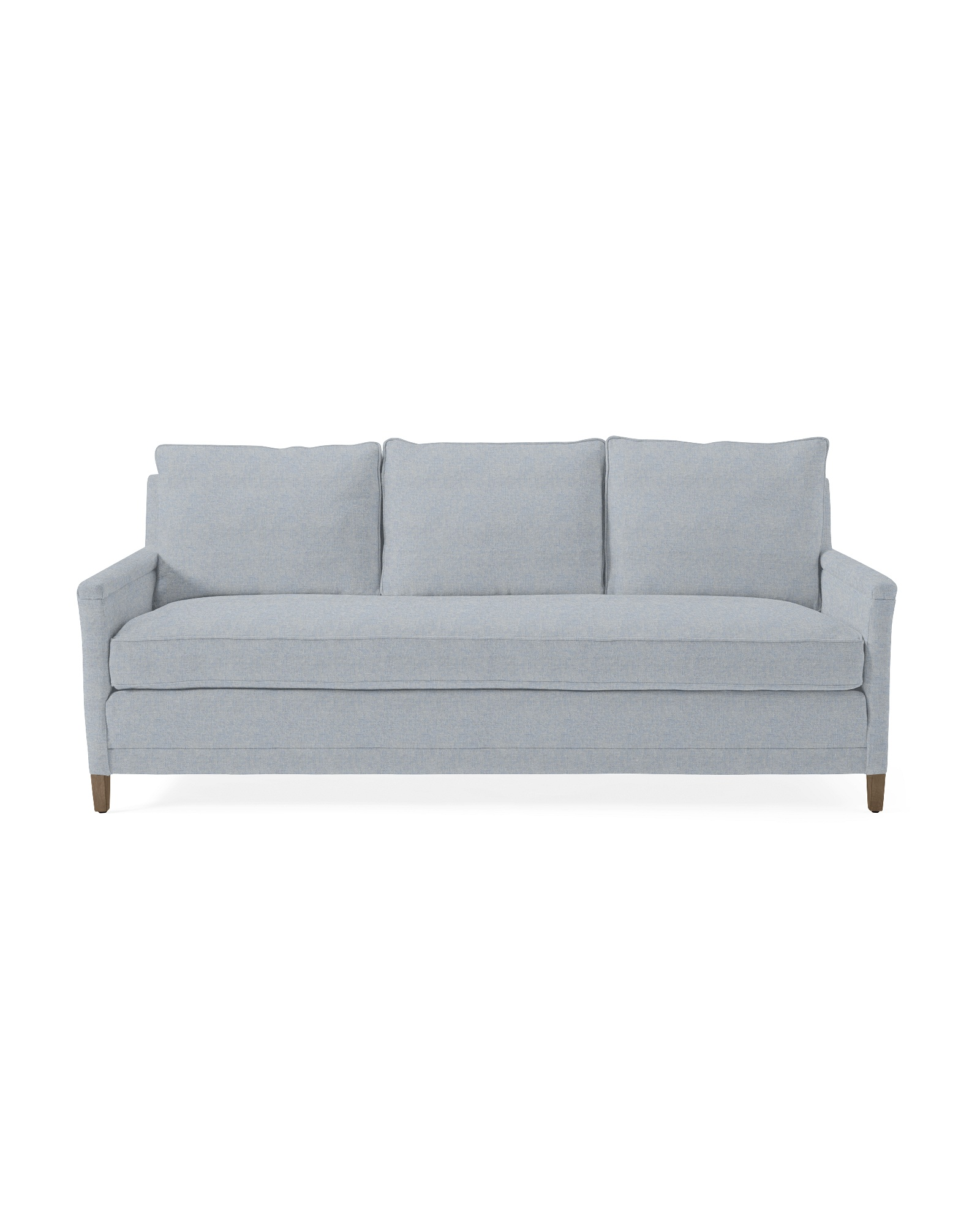 Spruce Street Sofa with Bench Seat - Sky Blue Saltwashed Belgian Linen,
