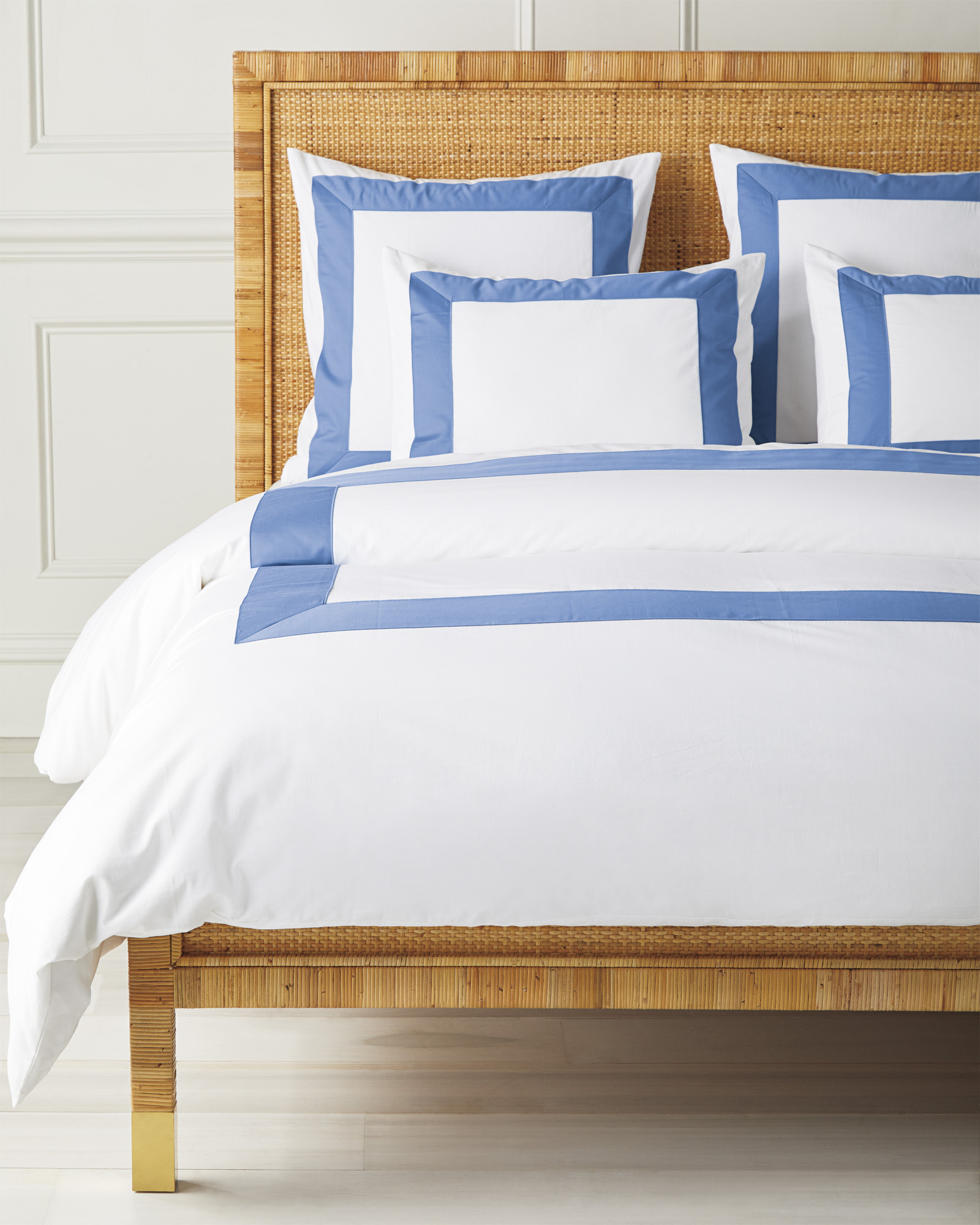 Beach Club Border Duvet Cover, French Blue