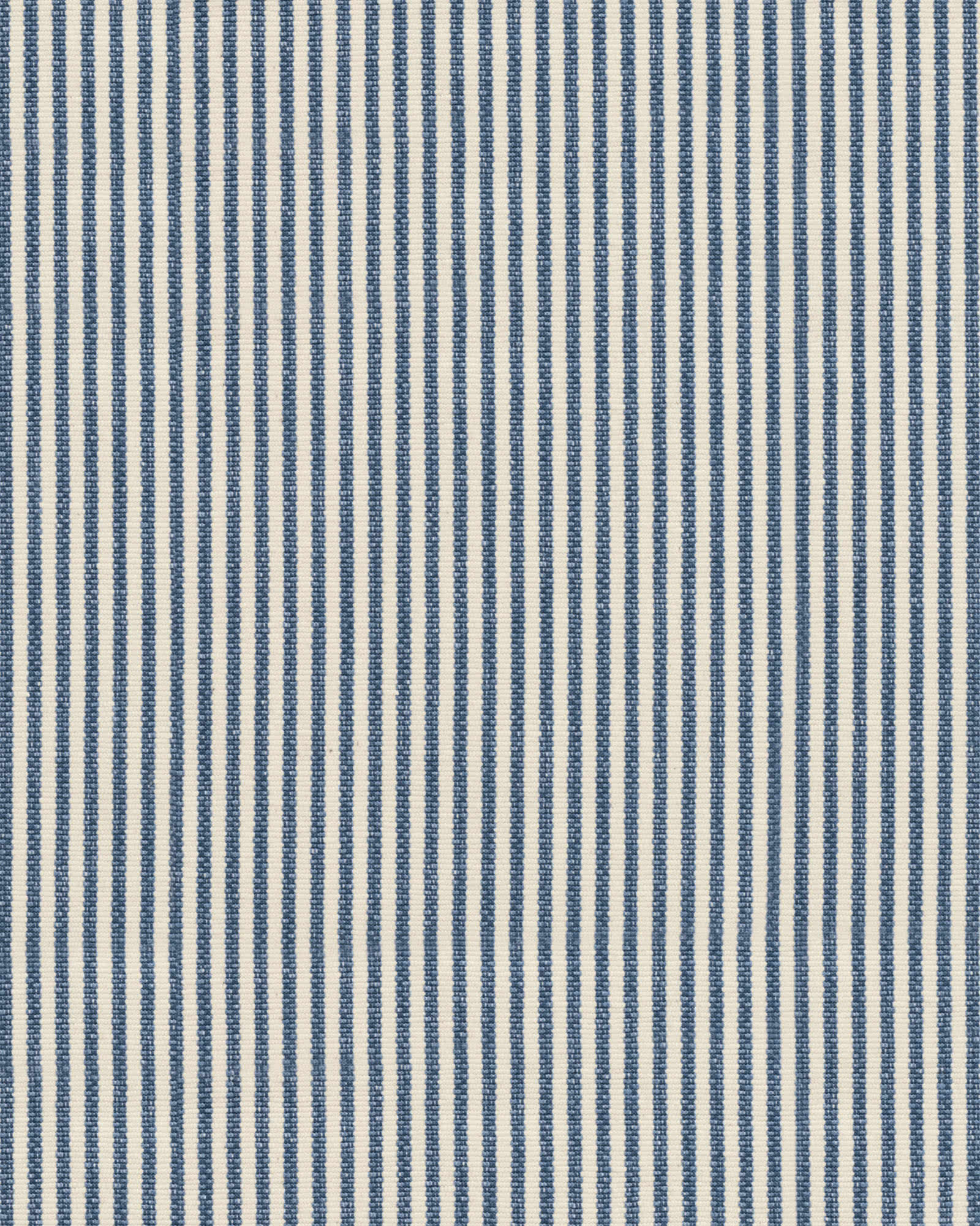 Pinstripe Cotton Fabric - Indigo, Indigo