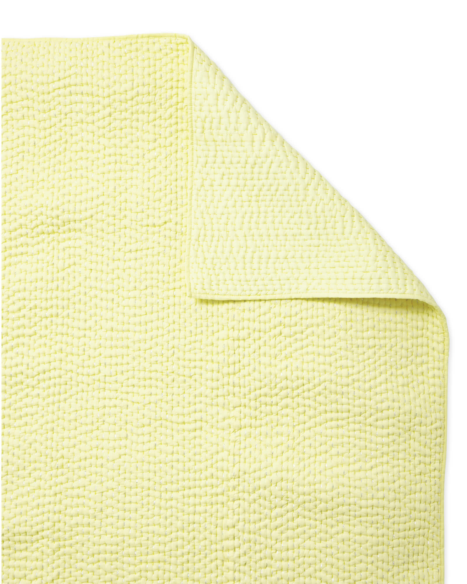 Metallic Pickstitch Quilt - Yellow,