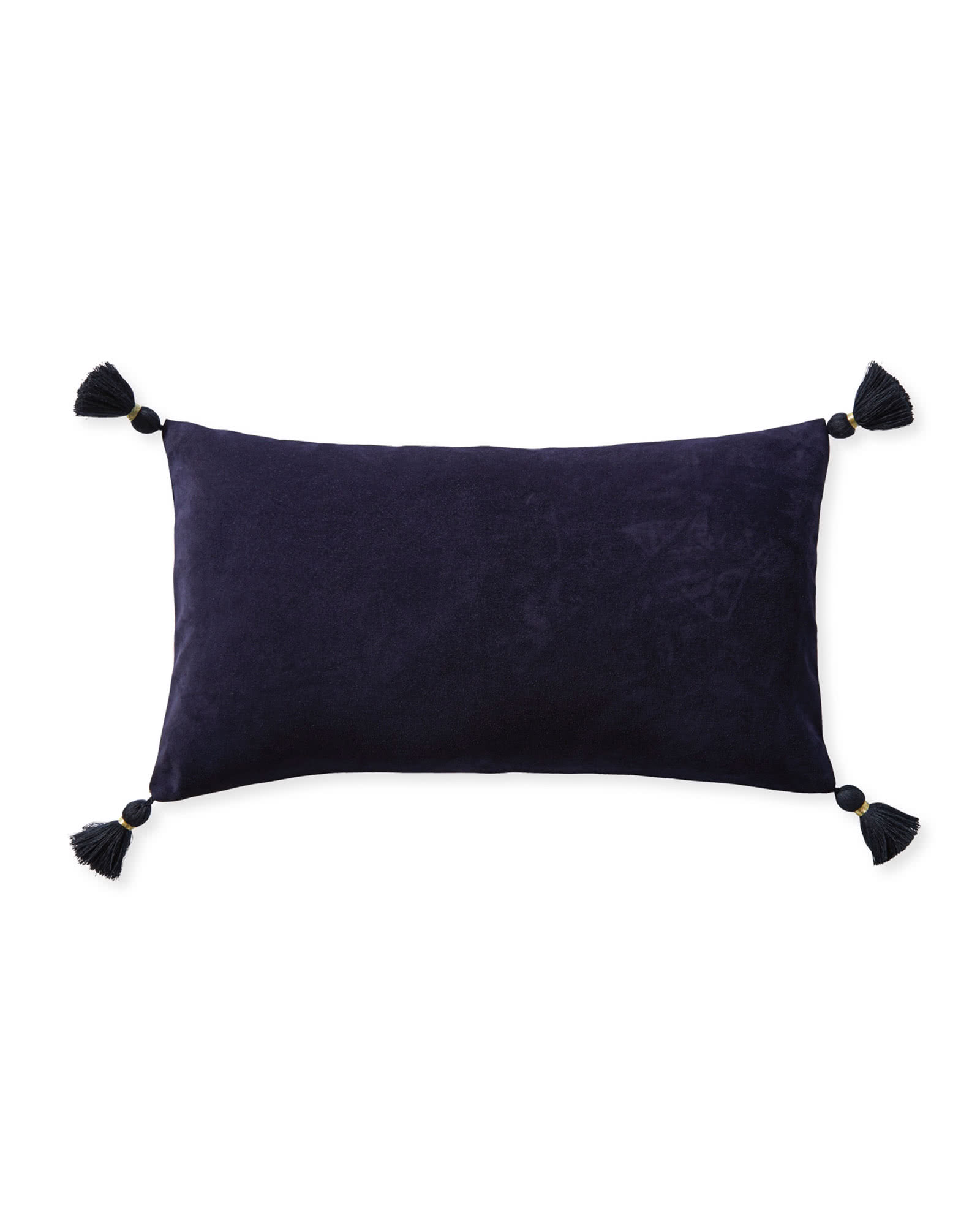Suede Eva Pillow Cover, Navy
