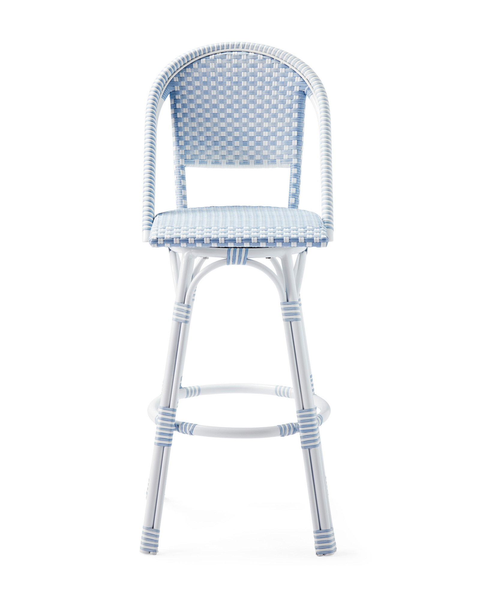 Outdoor Riviera Swivel Barstool, Atlantic
