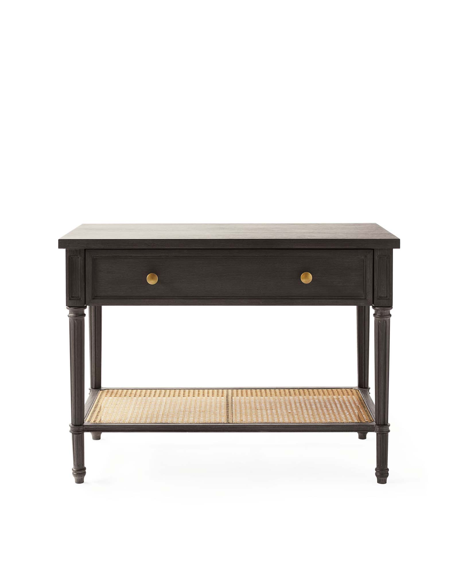 Harbour Cane Wide Nightstand, Ebony