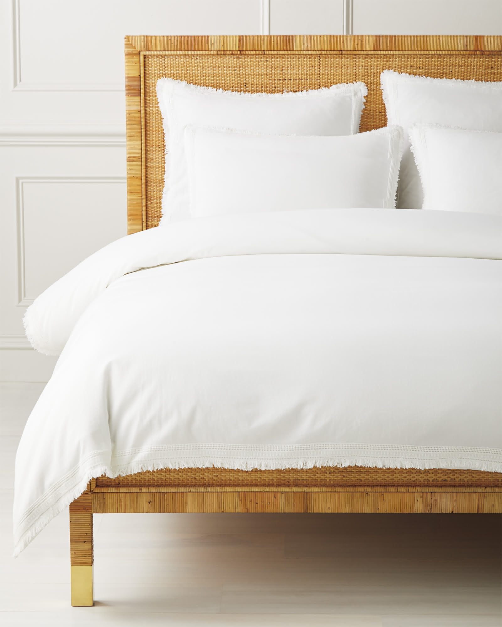 Solana Duvet Cover, White