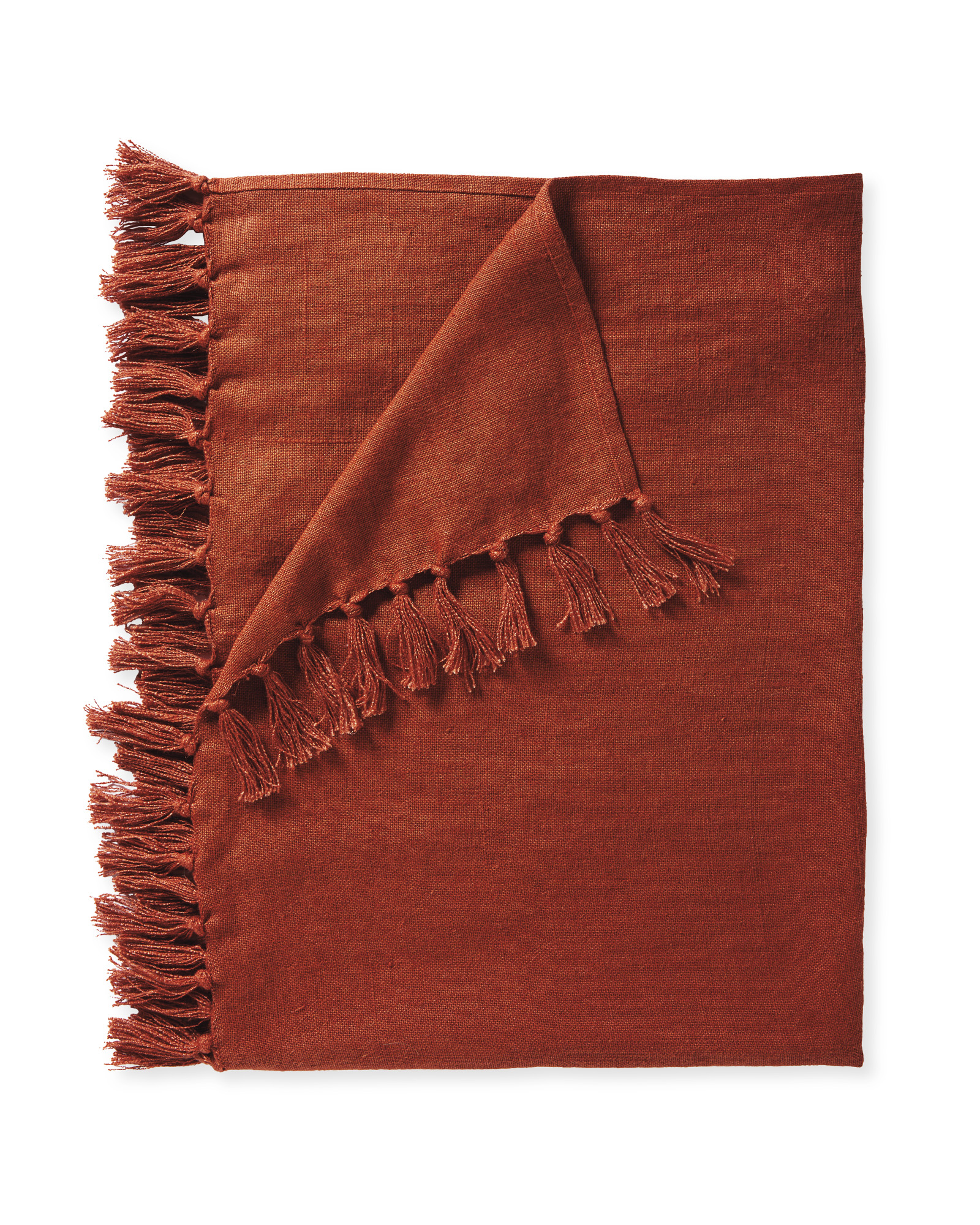 Mendocino Linen Throw, Terracotta