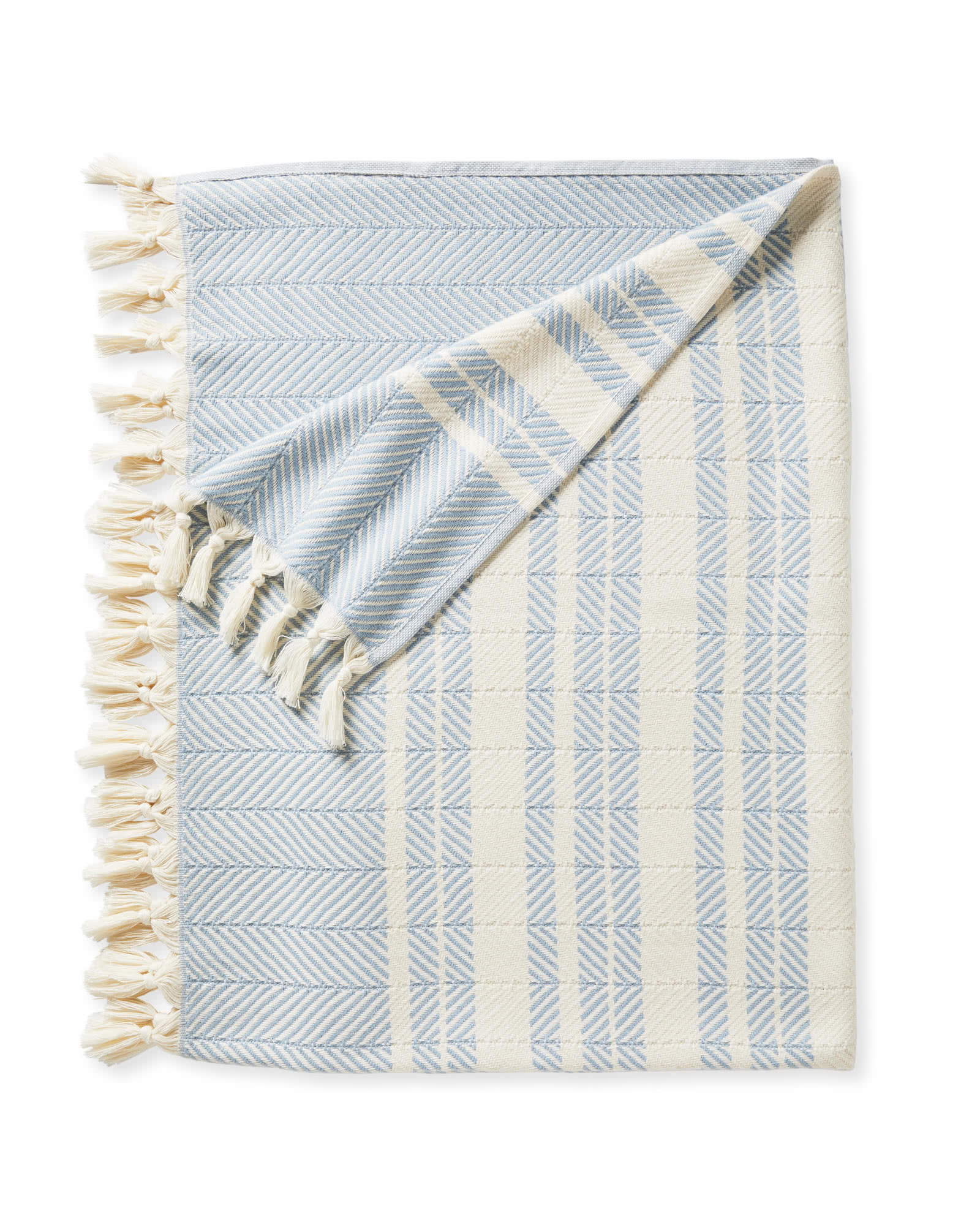 Palermo Cotton Throw, Coastal Blue