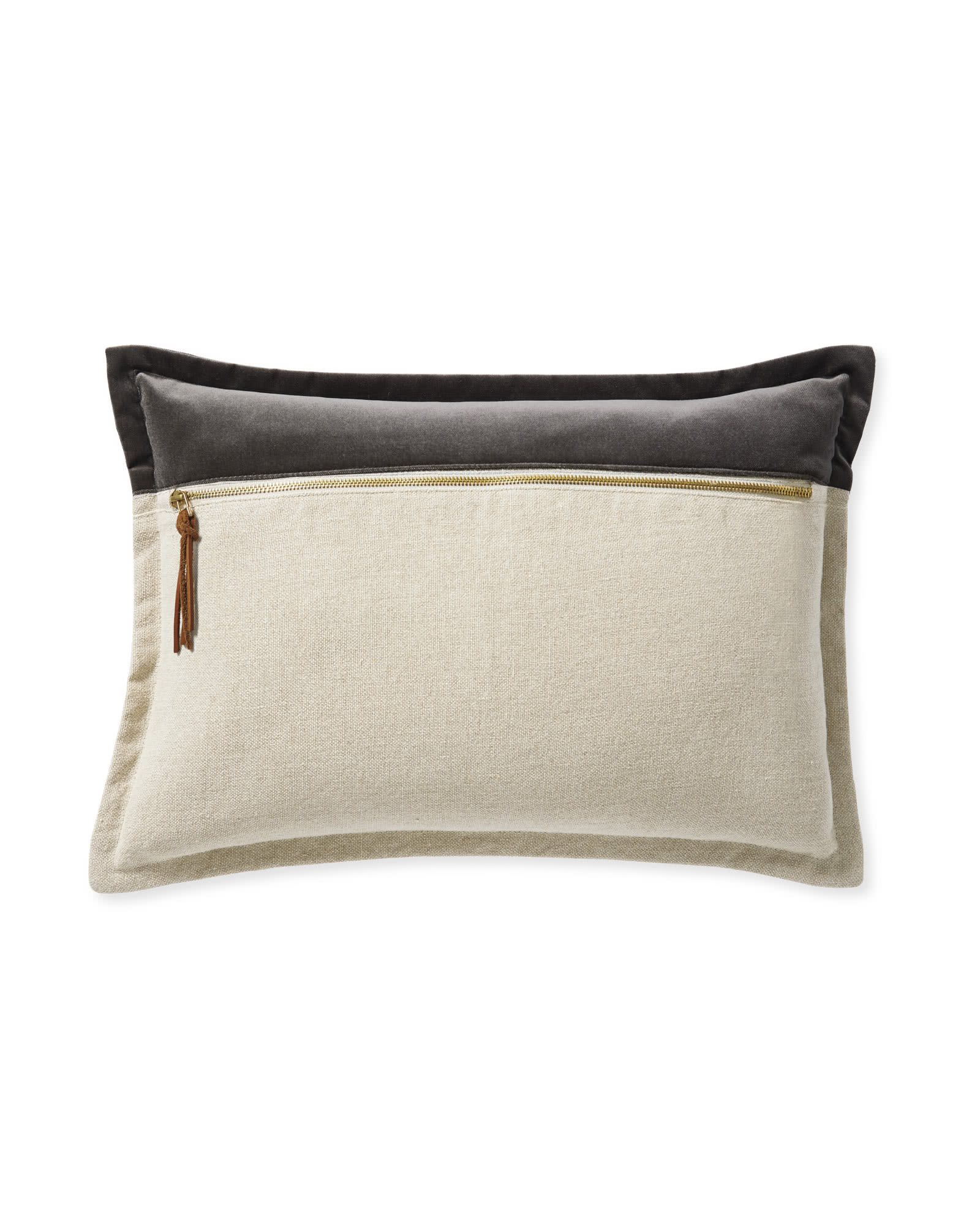 Quinn Velvet Pillow Cover, Graphite