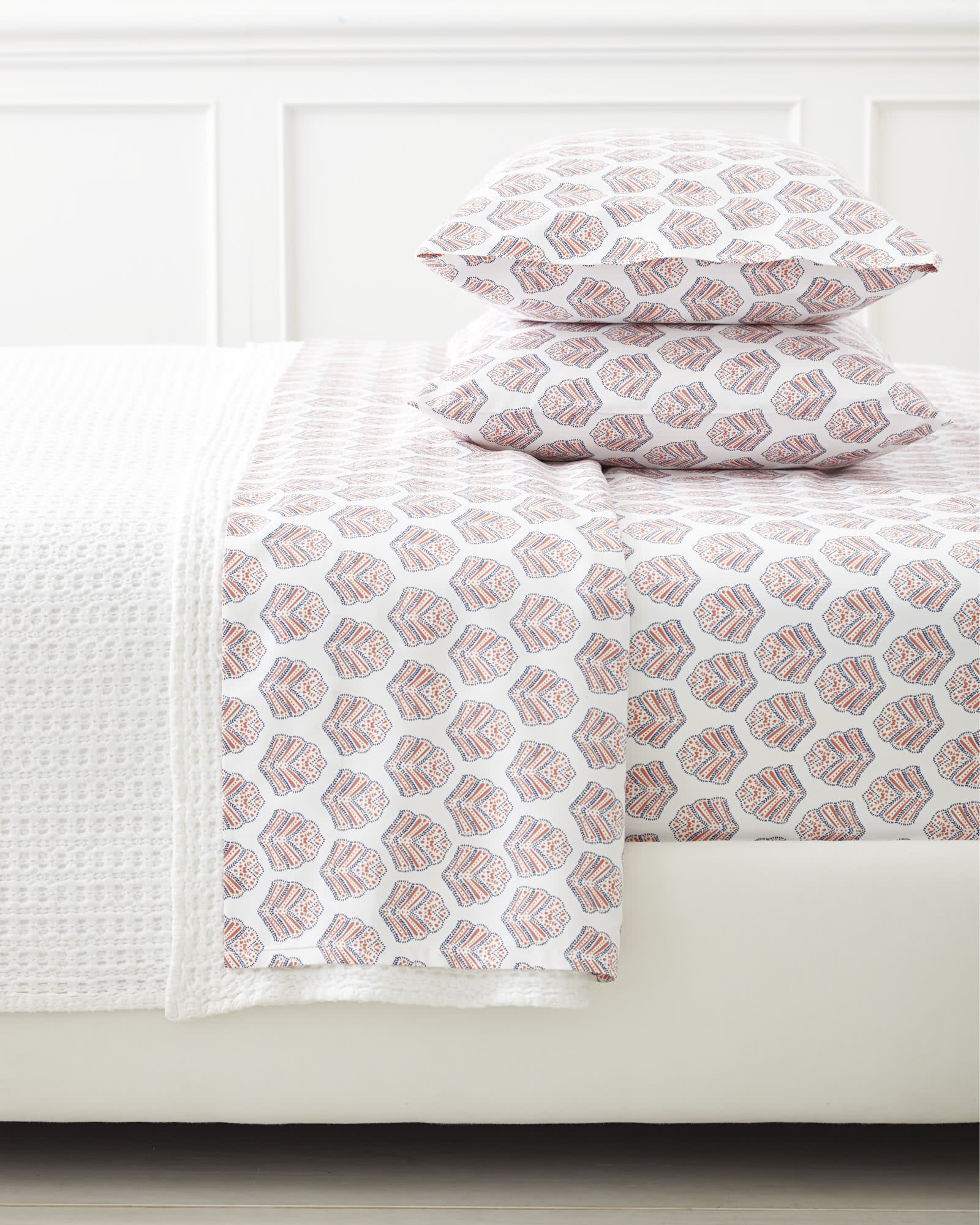 Sanibel Pillowcases (Extra Set of 2) - Weathered Coral,