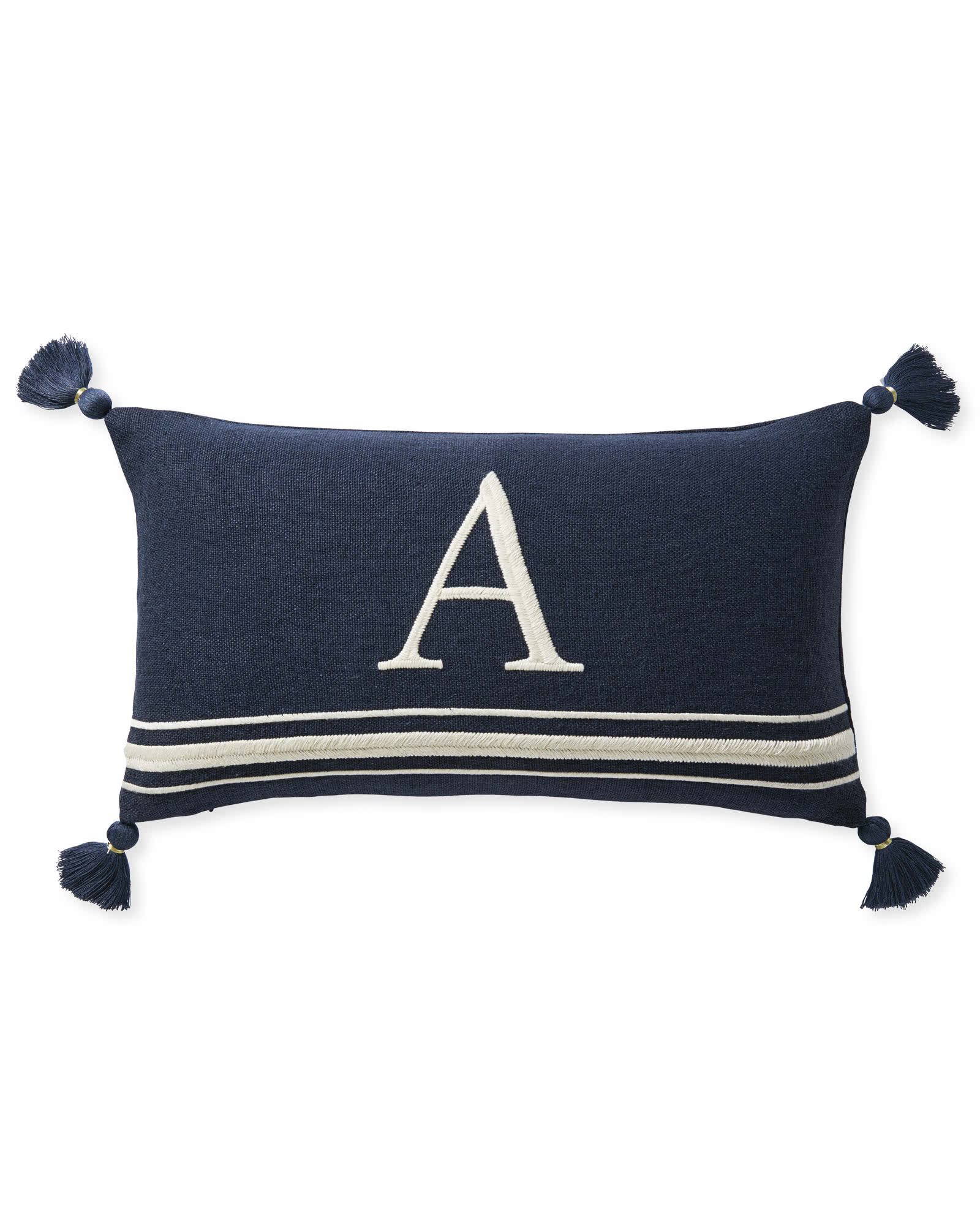 Embroidered Letter Pillow Cover