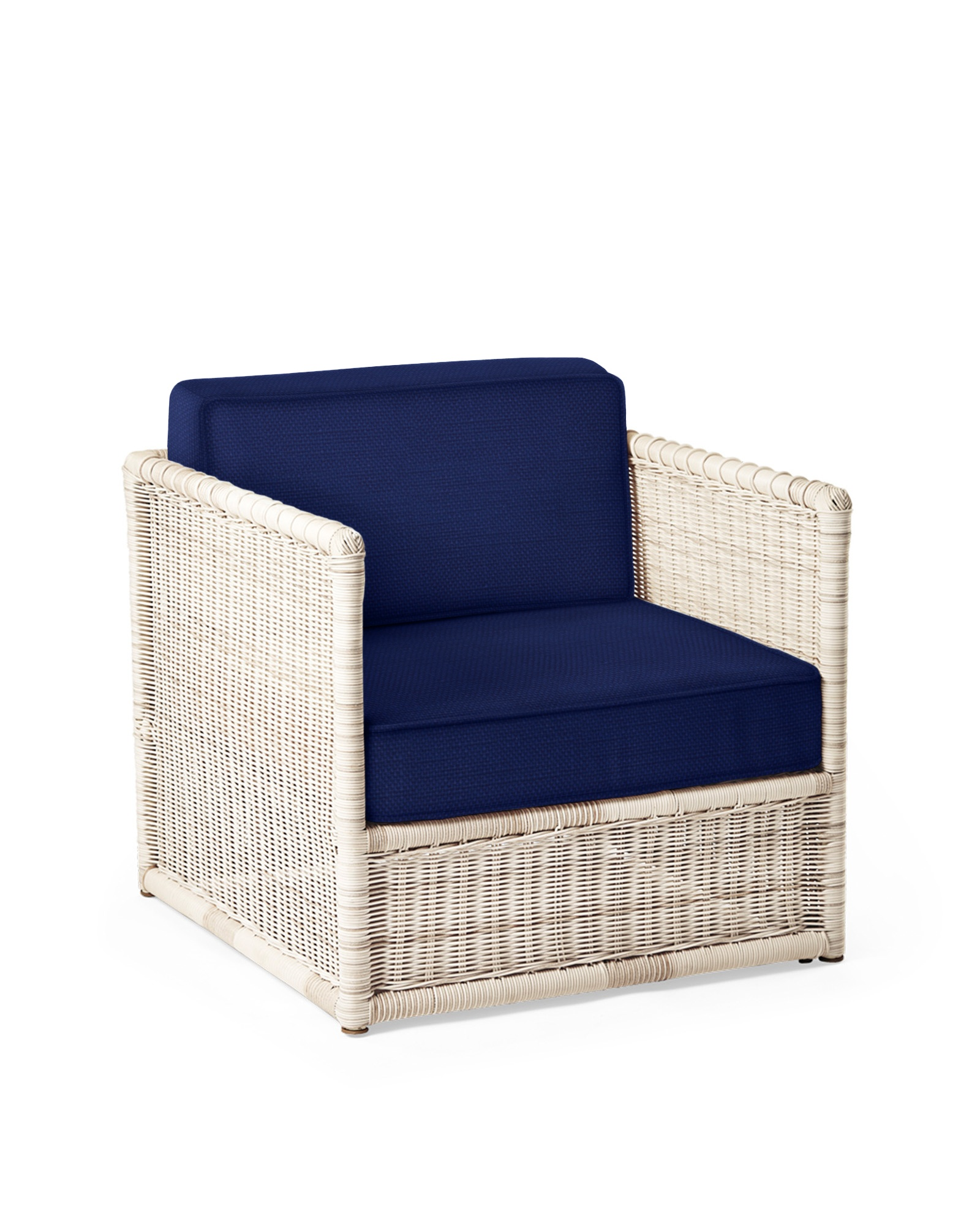 Cushion Cover for Pacifica Lounge Chair, Perennials Basketweave Navy