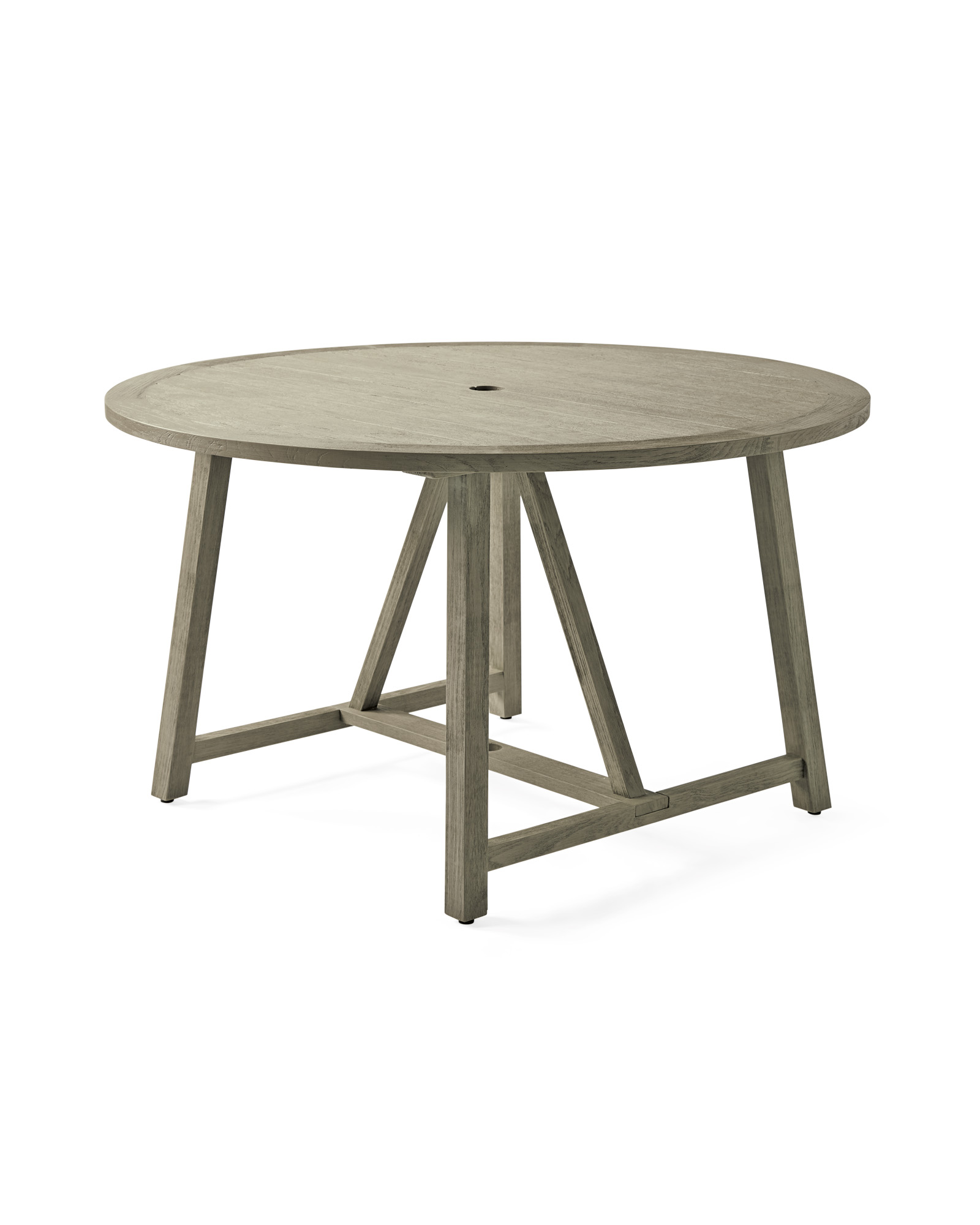 Crosby Teak Round Dining Table - Vintage Grey,