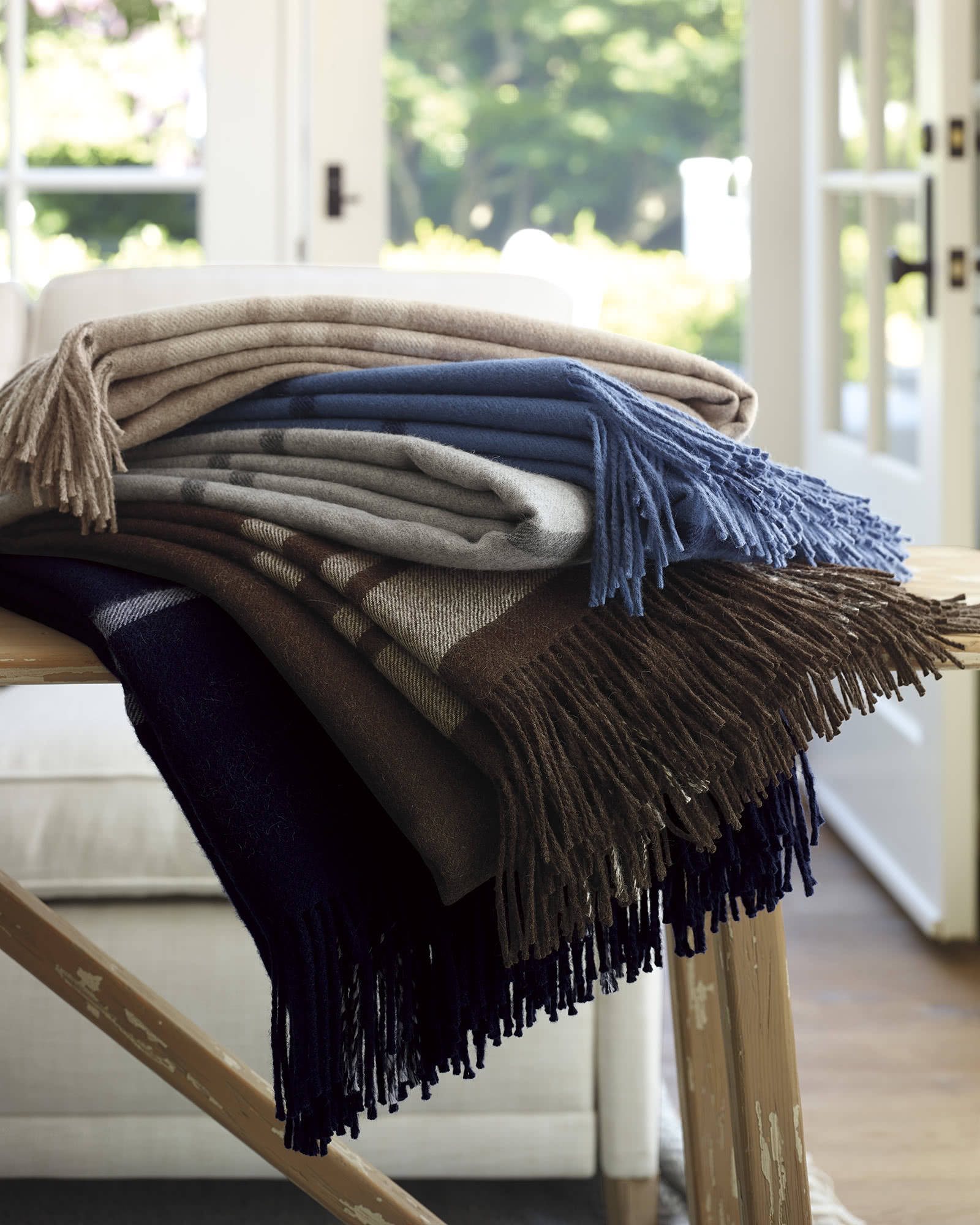 Avery Alpaca Throw, Midnight