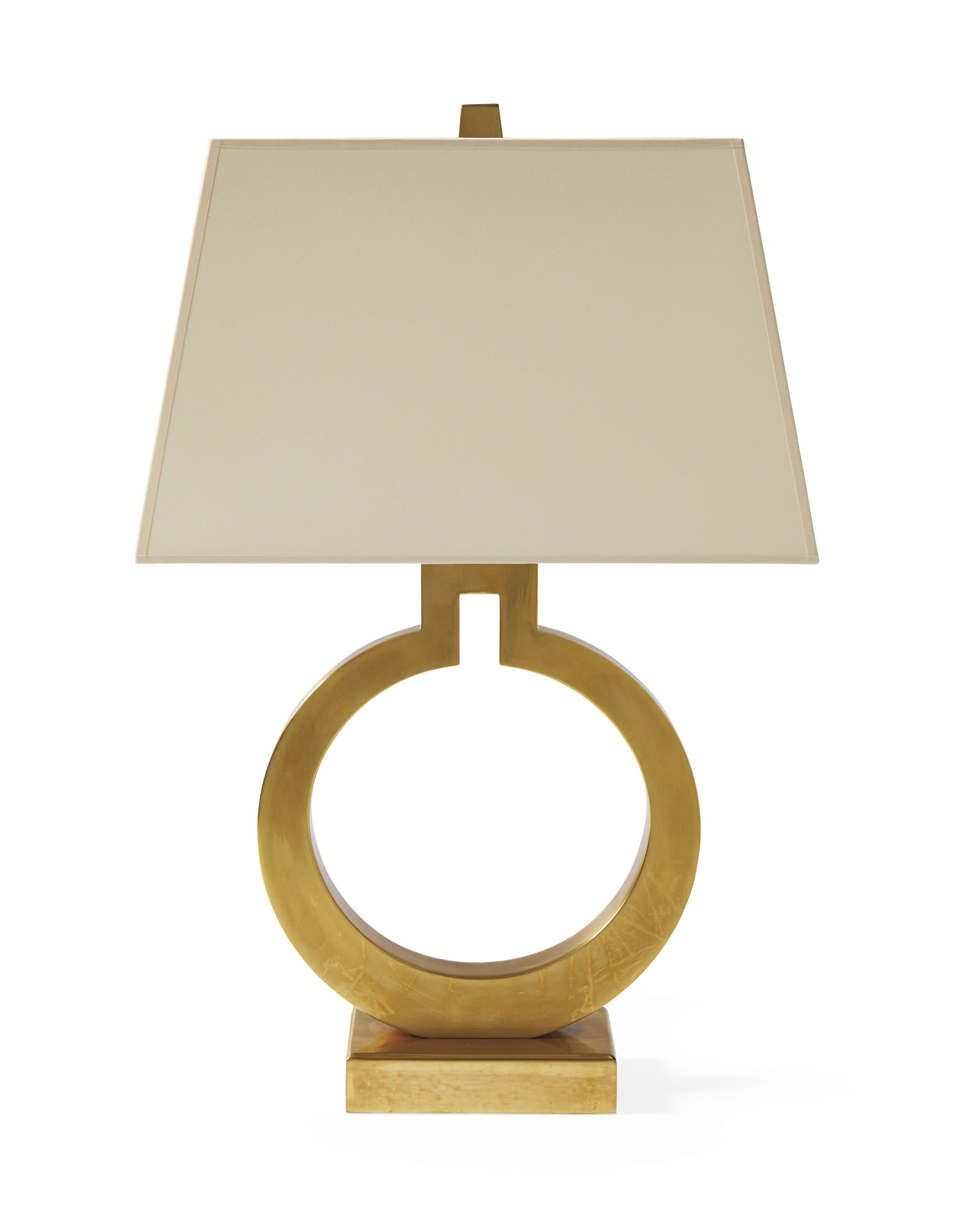 Brass ring table lamp serena lily brass ring table lamp aloadofball Gallery