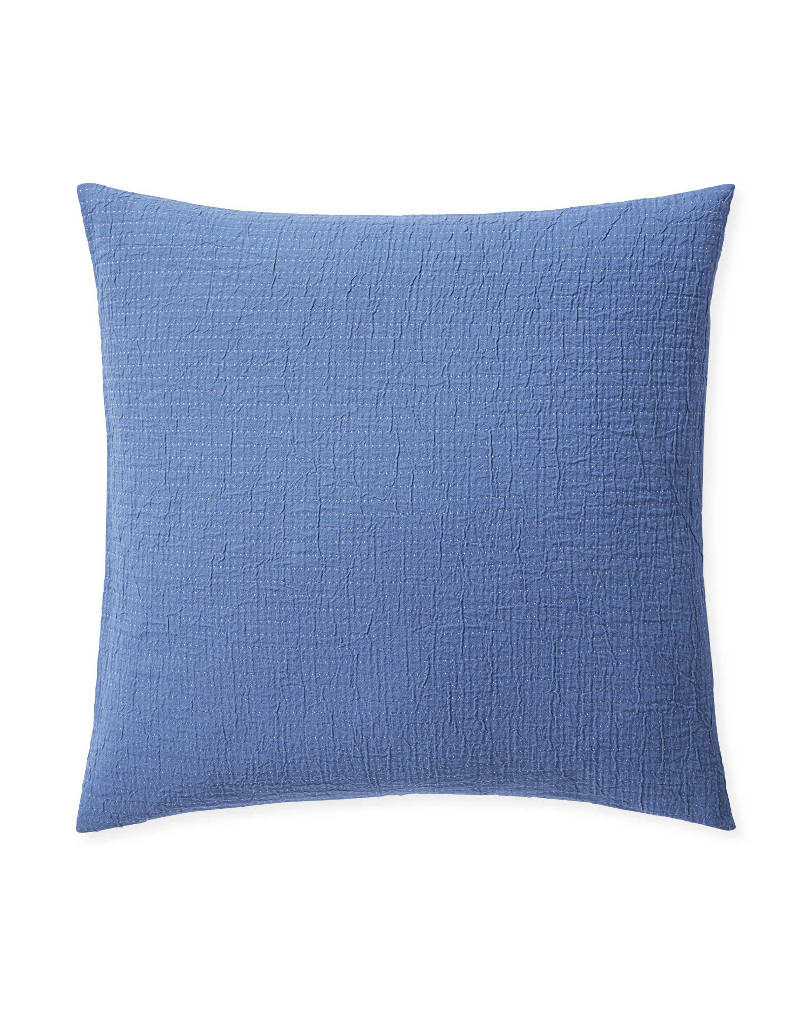 Pickstitch Matelassé Shams, French Blue