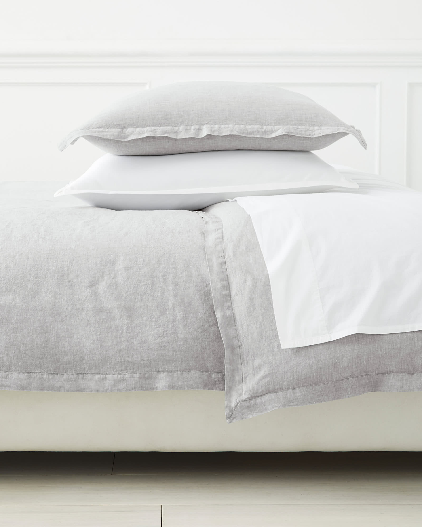Cavallo Linen Duvet Cover, Smoke Chambray
