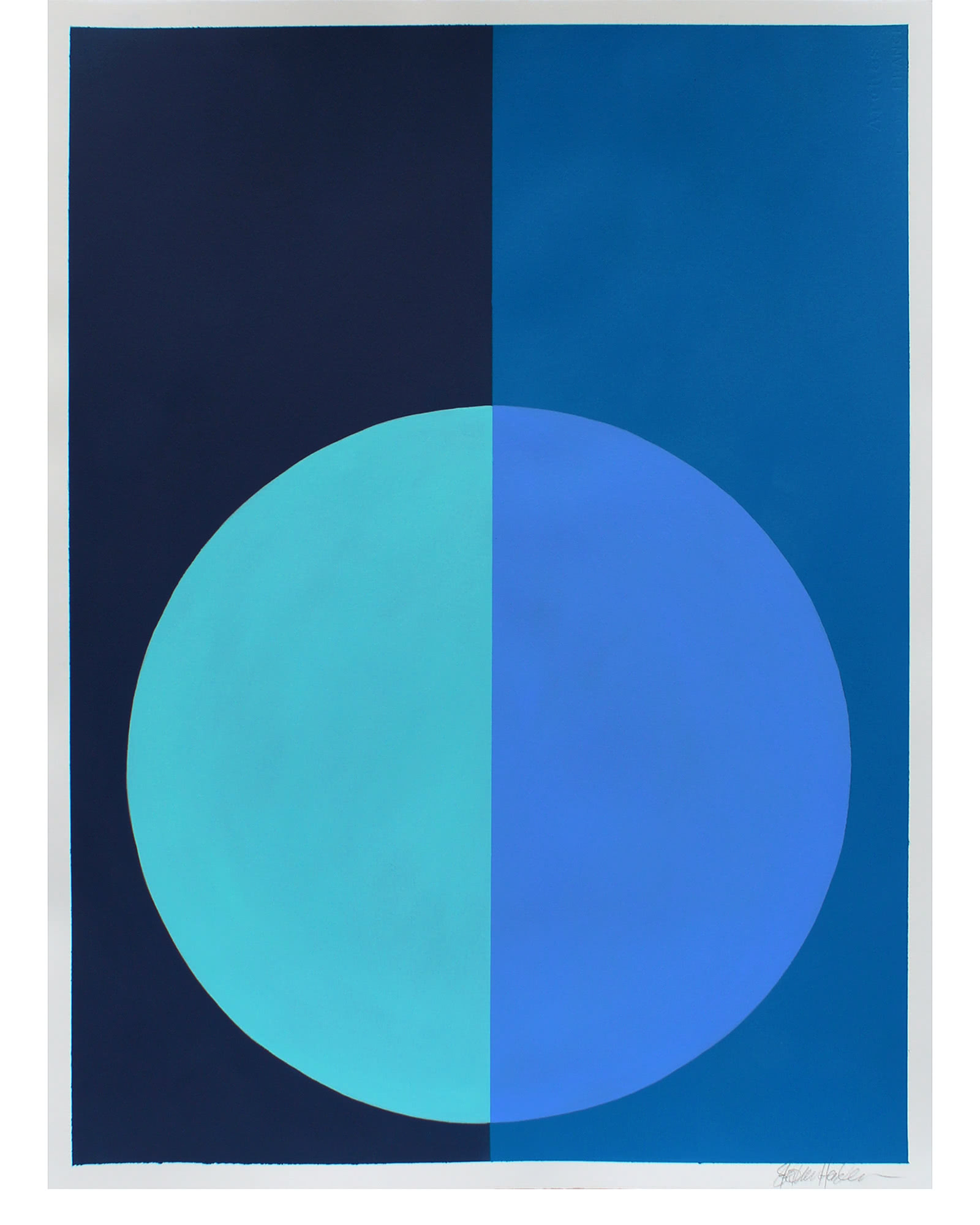 """Variation on a Circle in Indigo and Calypso"" by Stephanie Henderson,"
