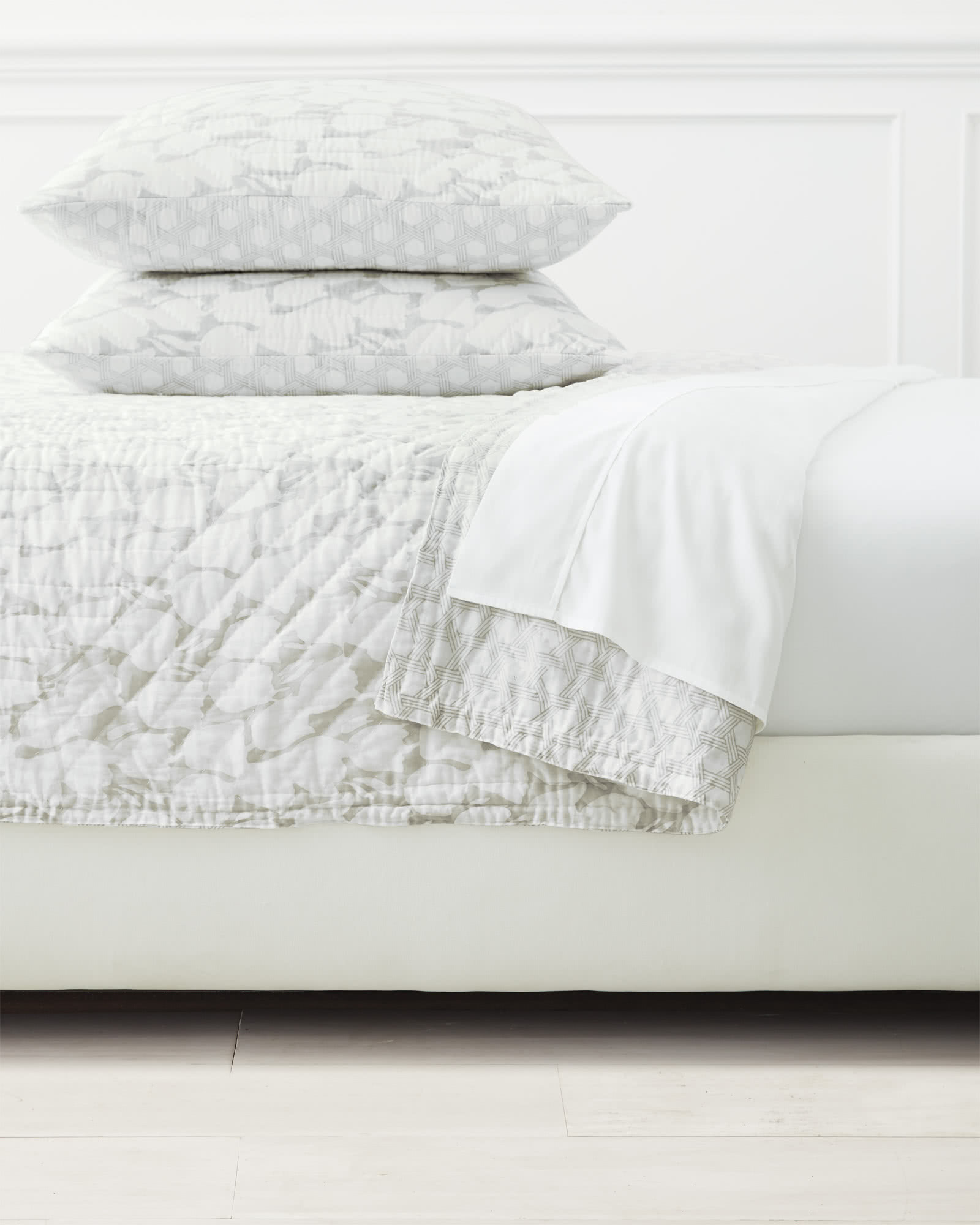 Cortina Quilted Shams - Bone,