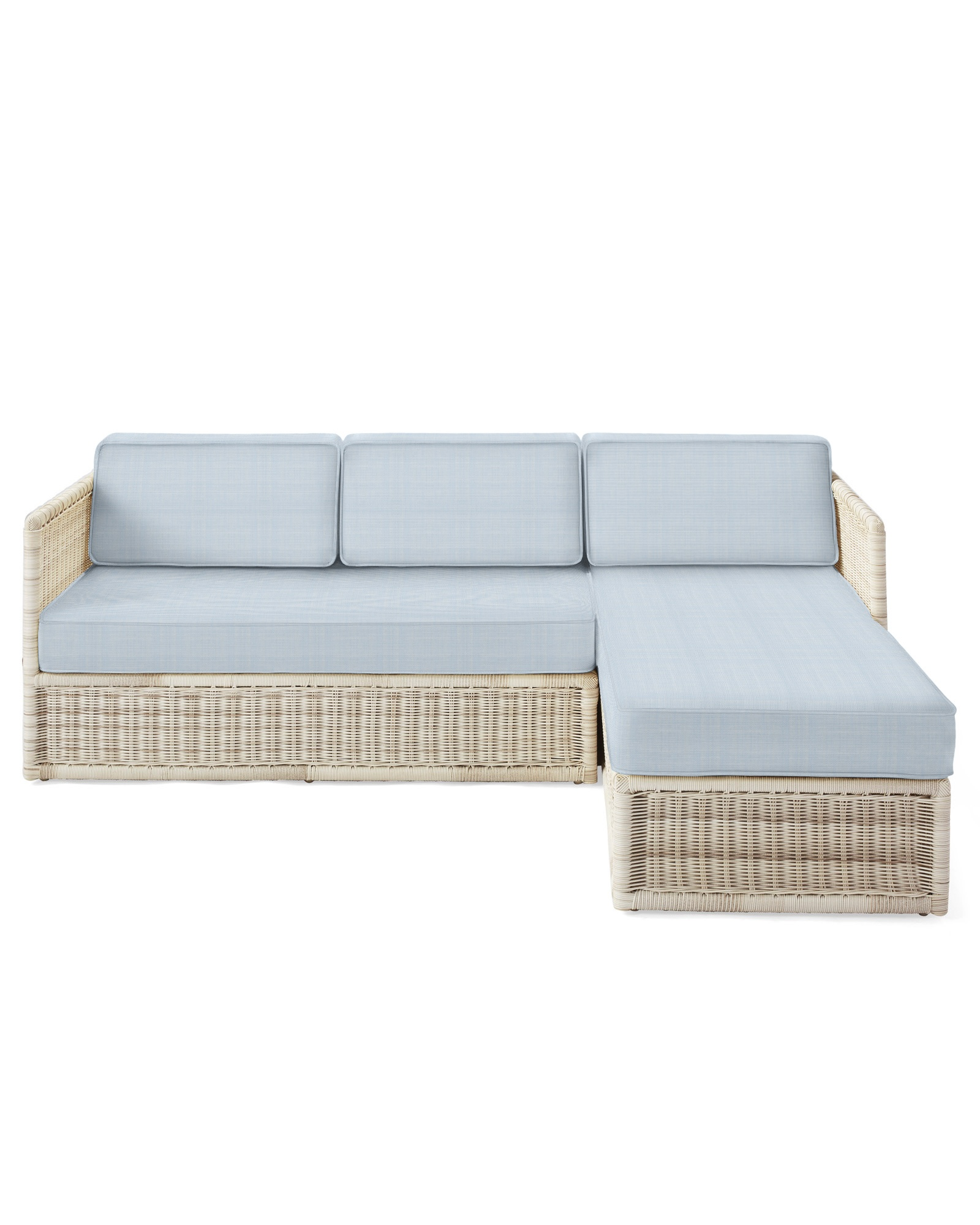 Cushion Cover for Pacifica Chaise Sectional, Perennials Basketweave Coastal Blue