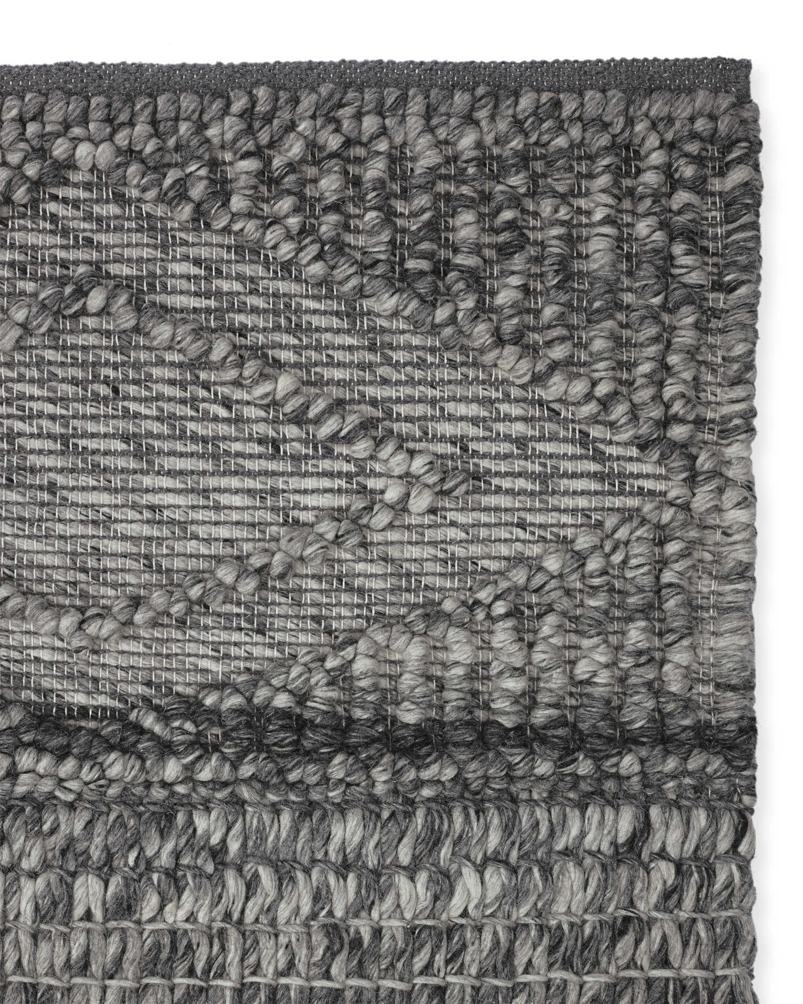 Macramé Wool Rug Swatch, Smoke