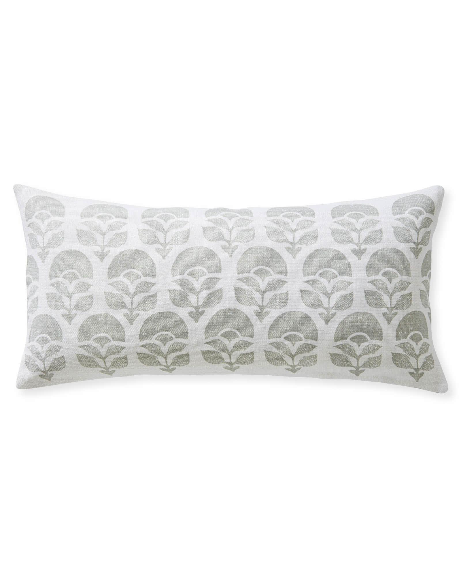 Larkspur Printed Pillow Cover, Fog