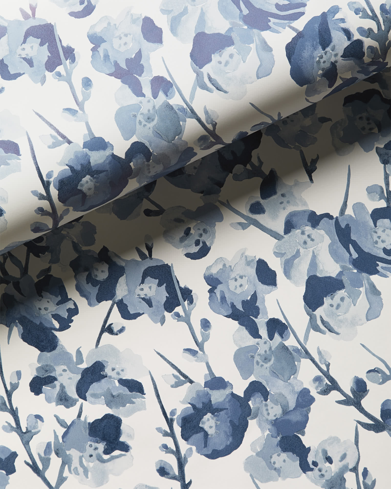 Fairfax Wallpaper, Blue