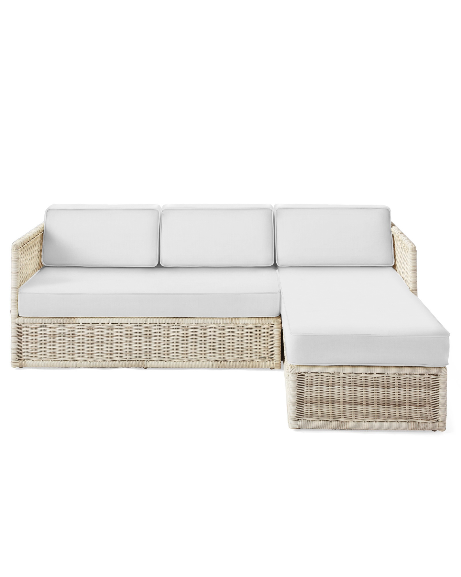 Cushion Cover for Pacifica Chaise Sectional, Perennials Basketweave White