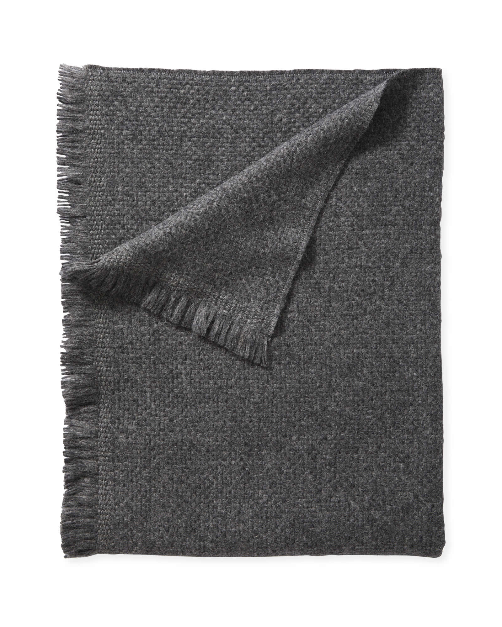 Milo Alpaca Throw - Charcoal, Charcoal