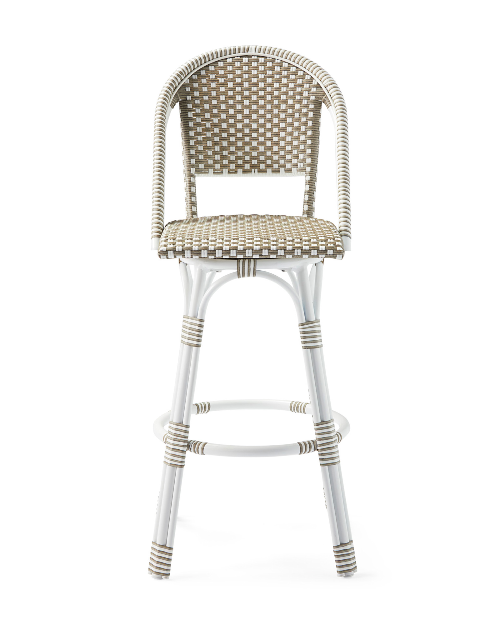 Outdoor Riviera Swivel Barstool, Harbour Grey