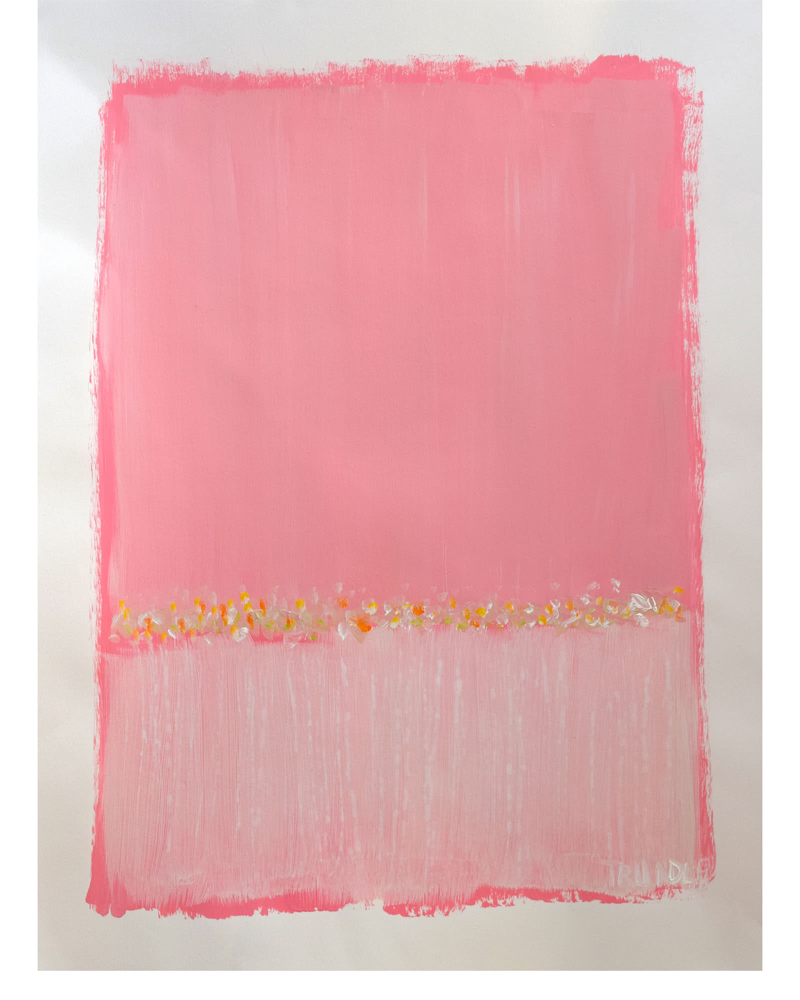 """Landscape Study in Pink"" by Sarah Trundle"