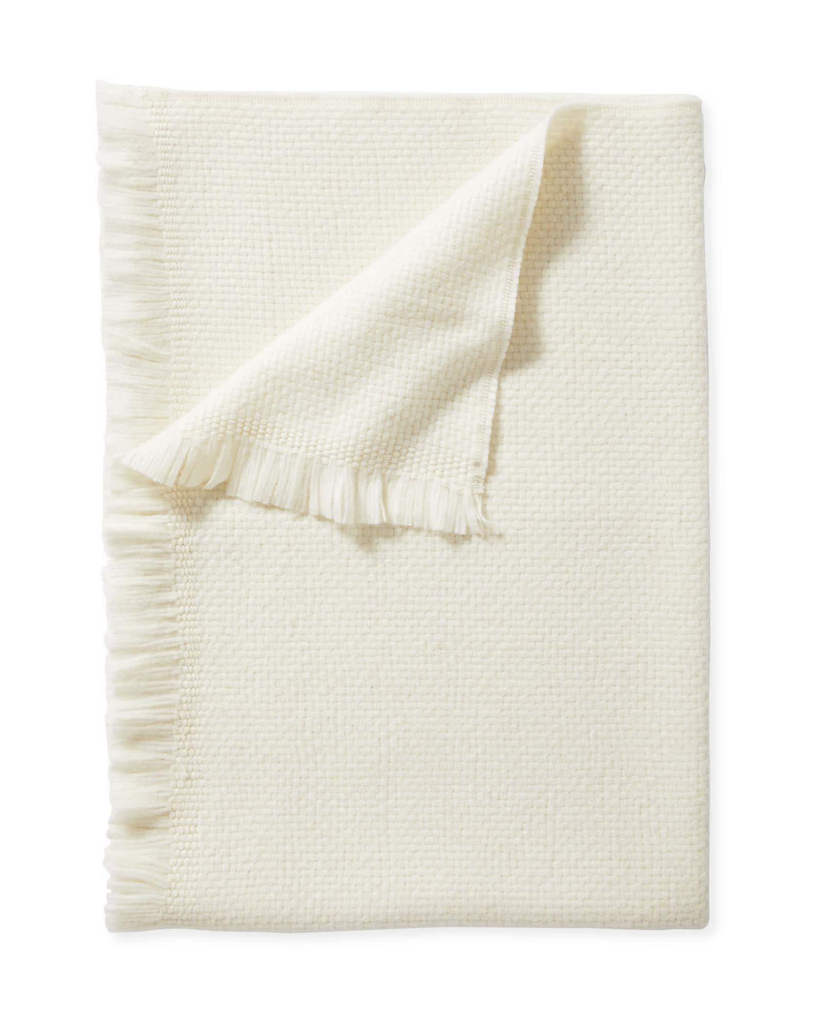 Milo Alpaca Throw, Ivory