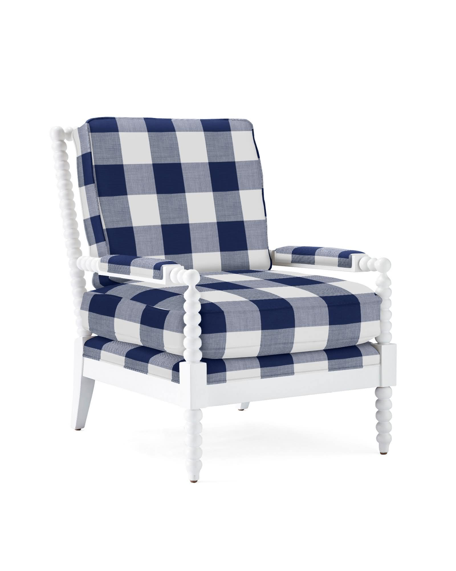 Beckett Chair - Perennials® Navy Gingham,