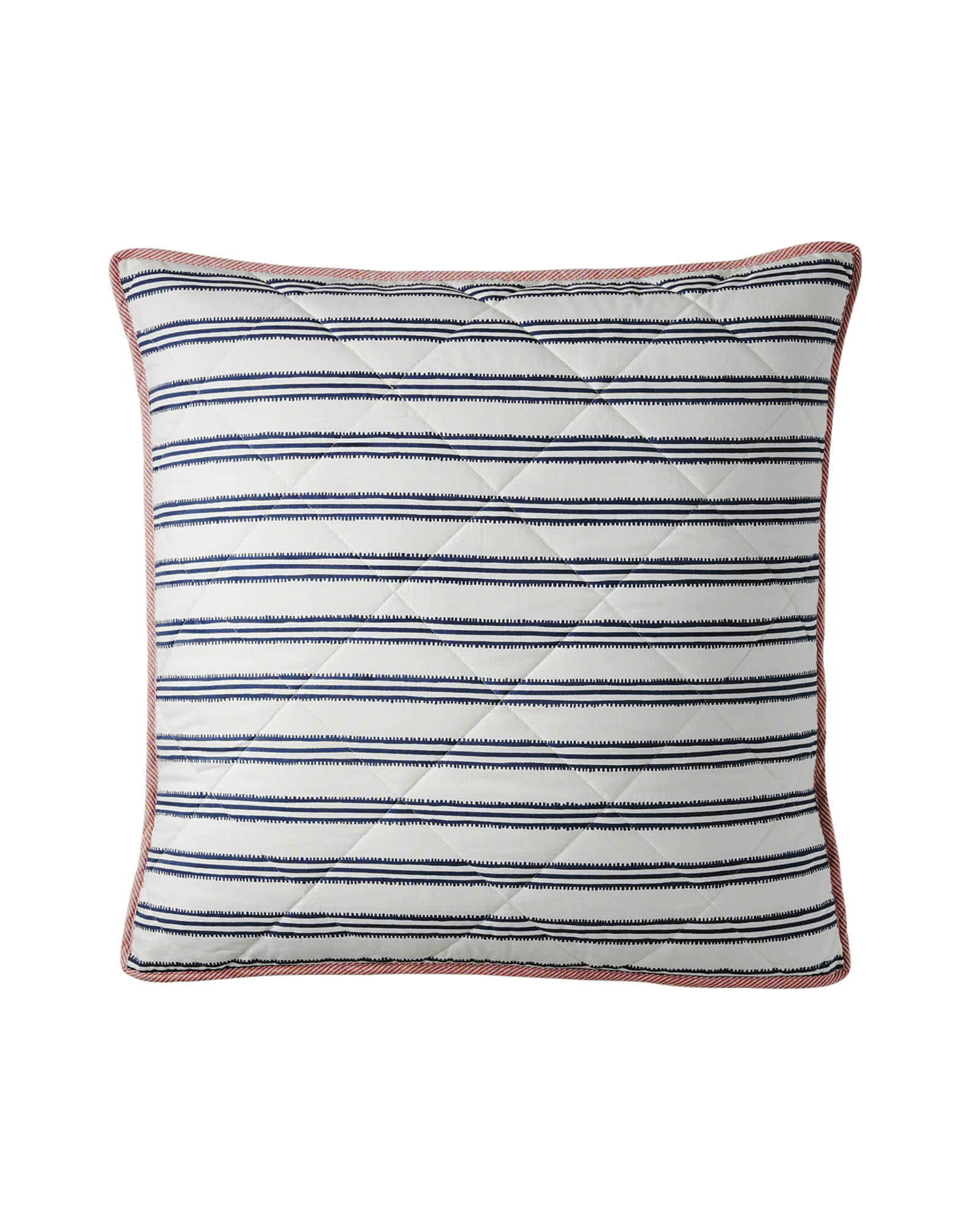 Railroad Stripe Quilted Euro Sham,