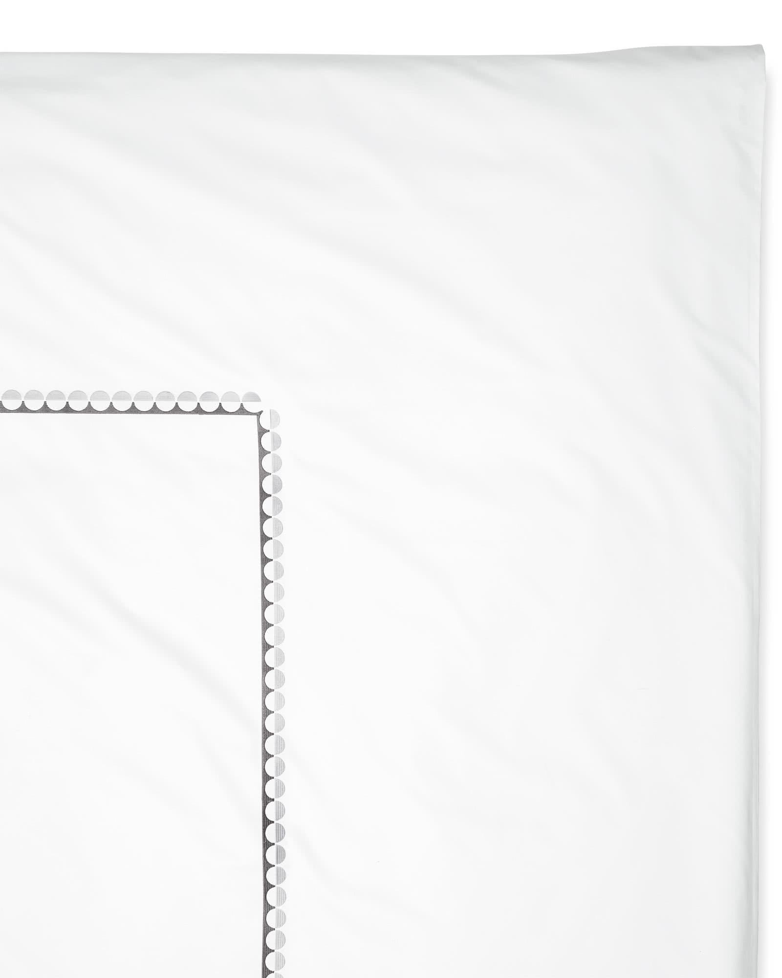 Oceanside Duvet Cover, Fog