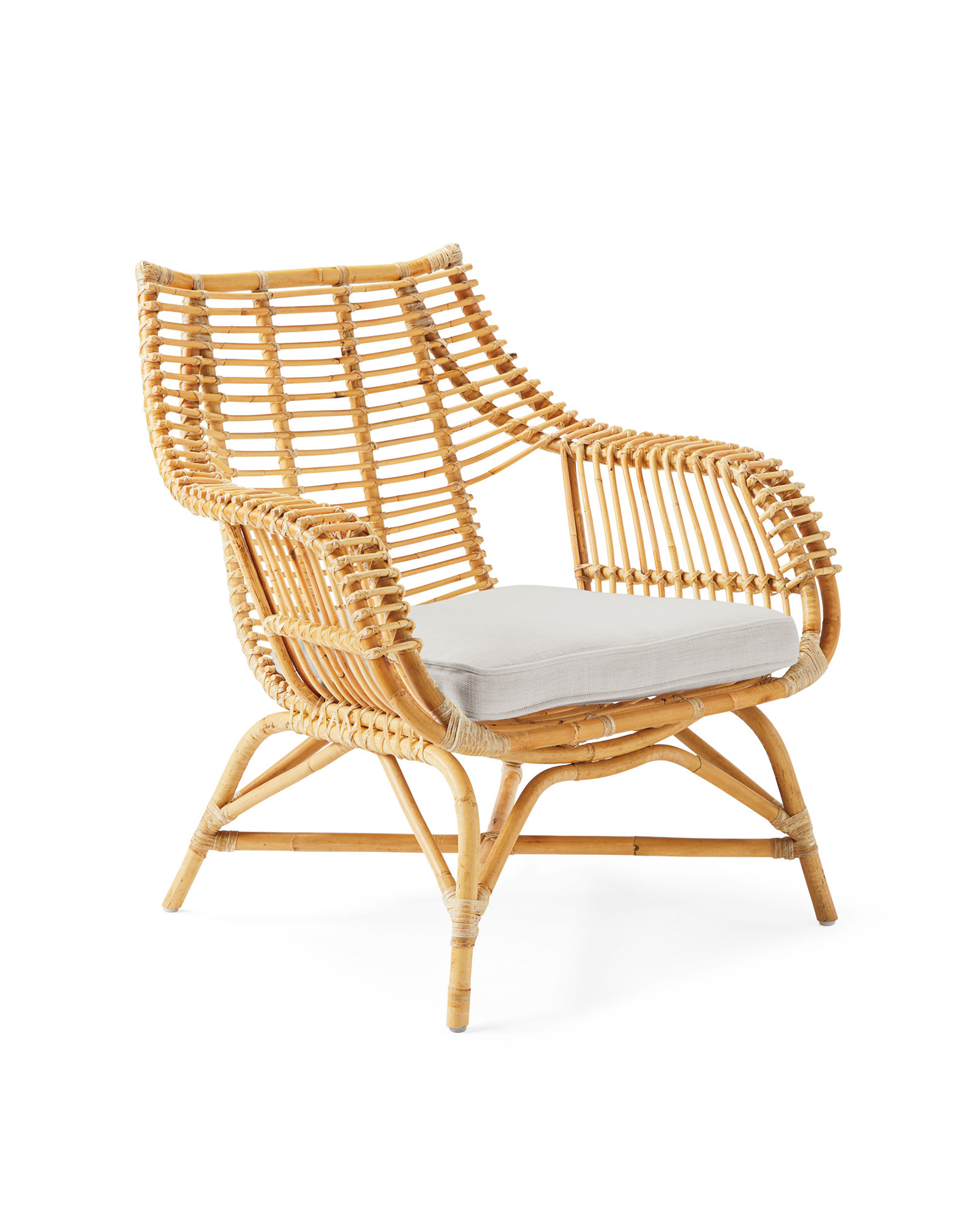 Venice Rattan Chair, Perennials Basketweave Fog