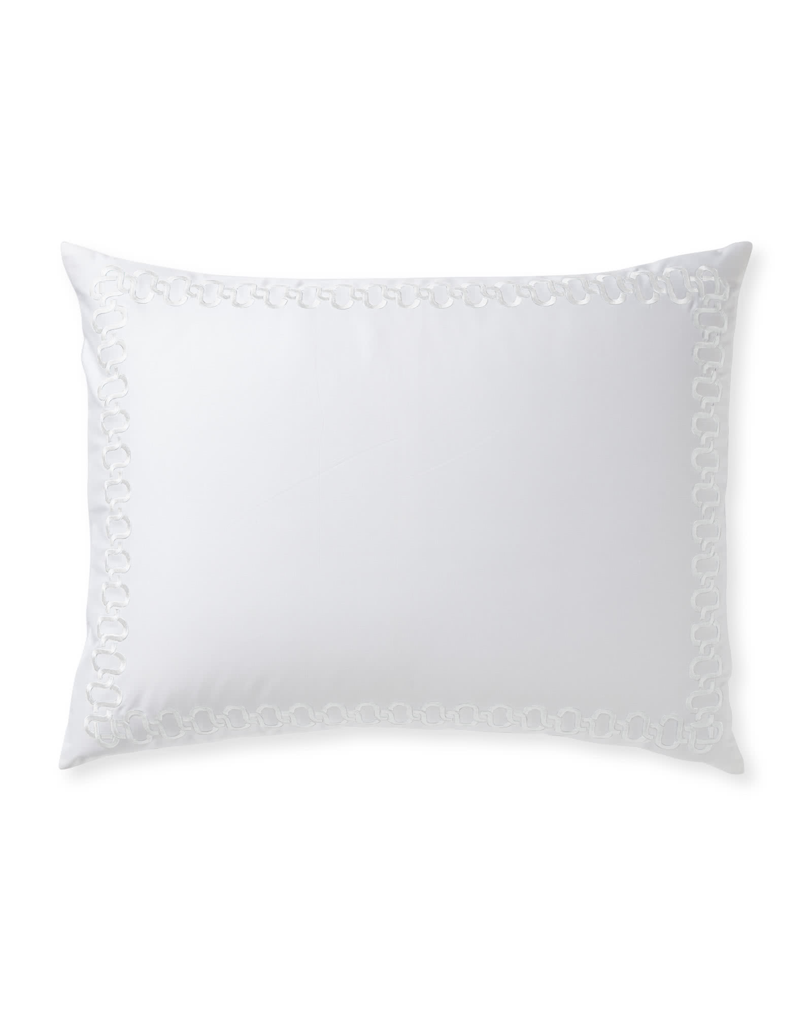 Savoy Embroidered Shams, White