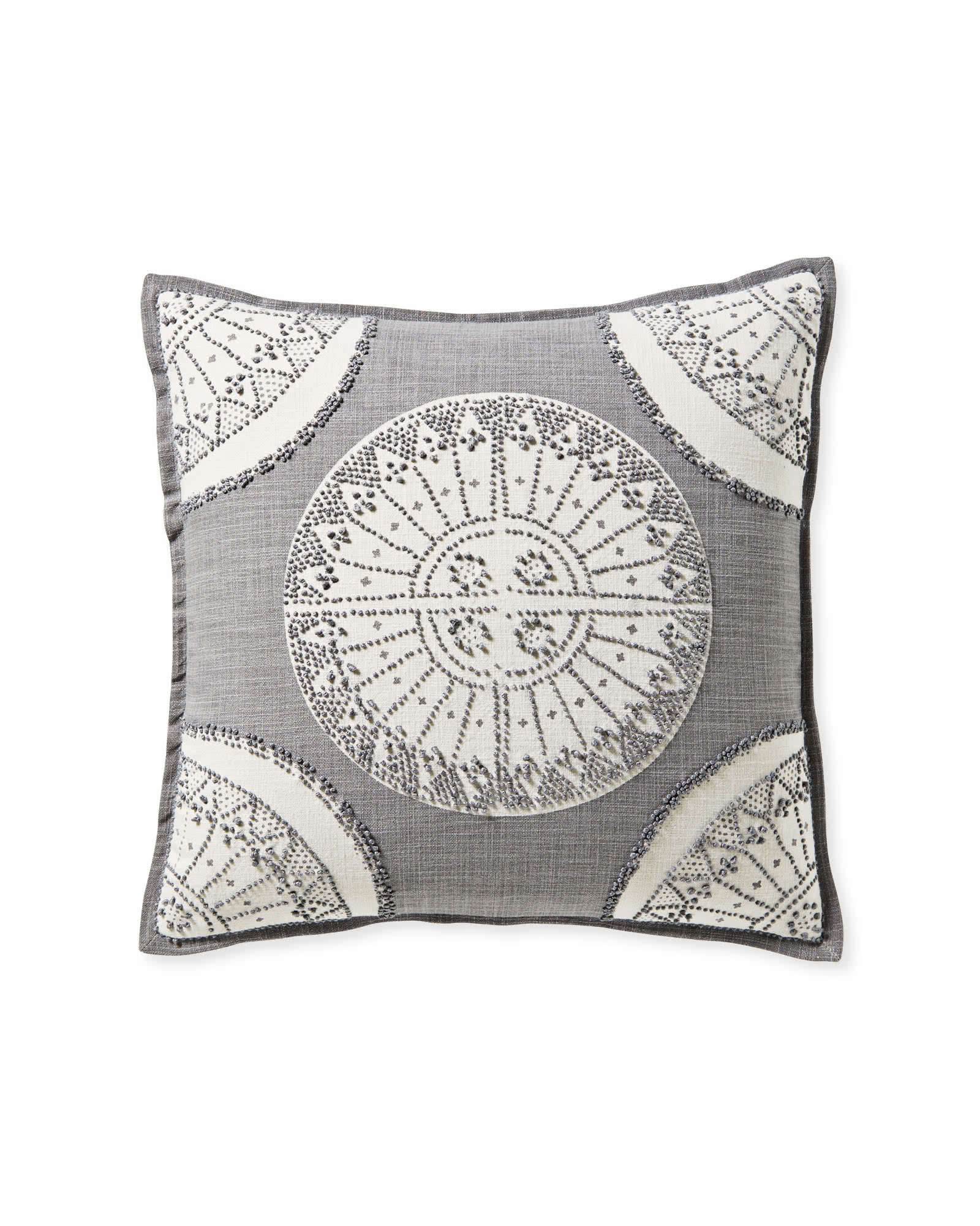 Lucia Pillow Cover, Pewter