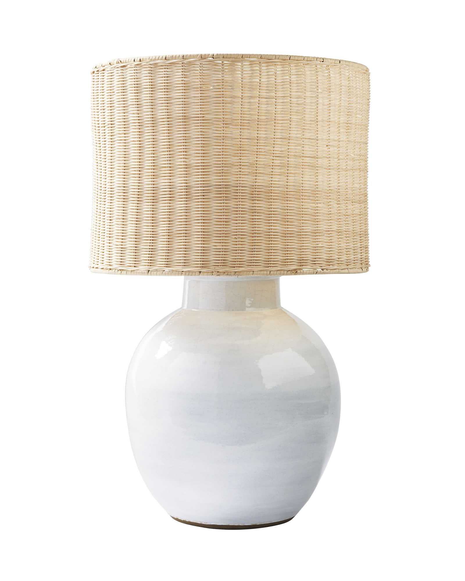 Morris Table Lamp, Wicker