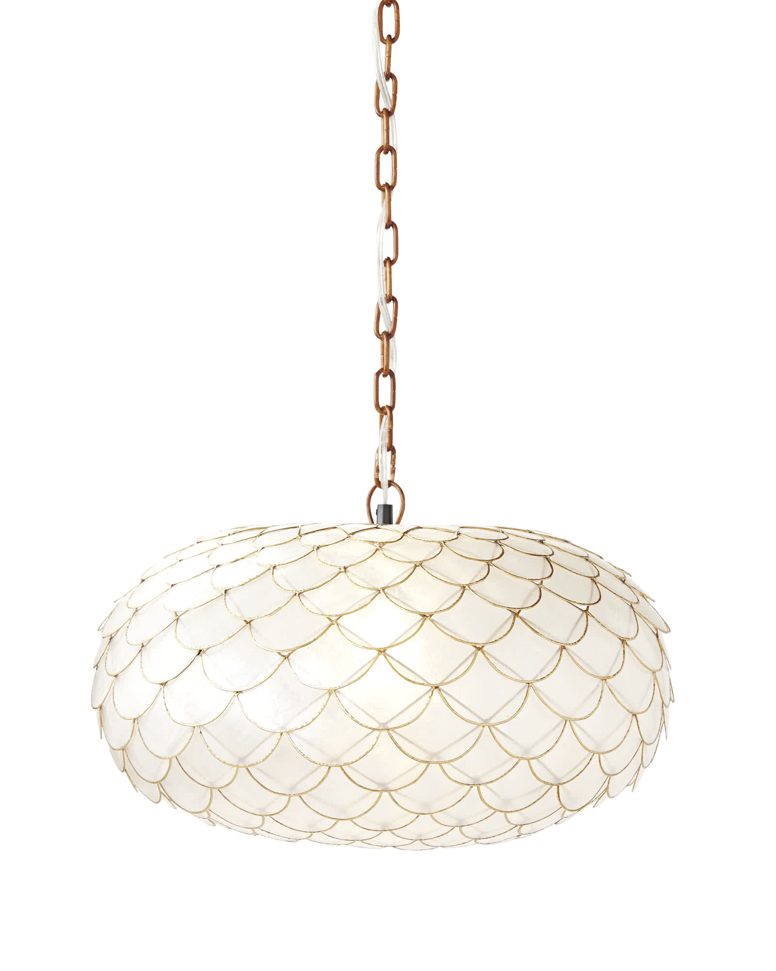 Capiz Scalloped Chandelier,