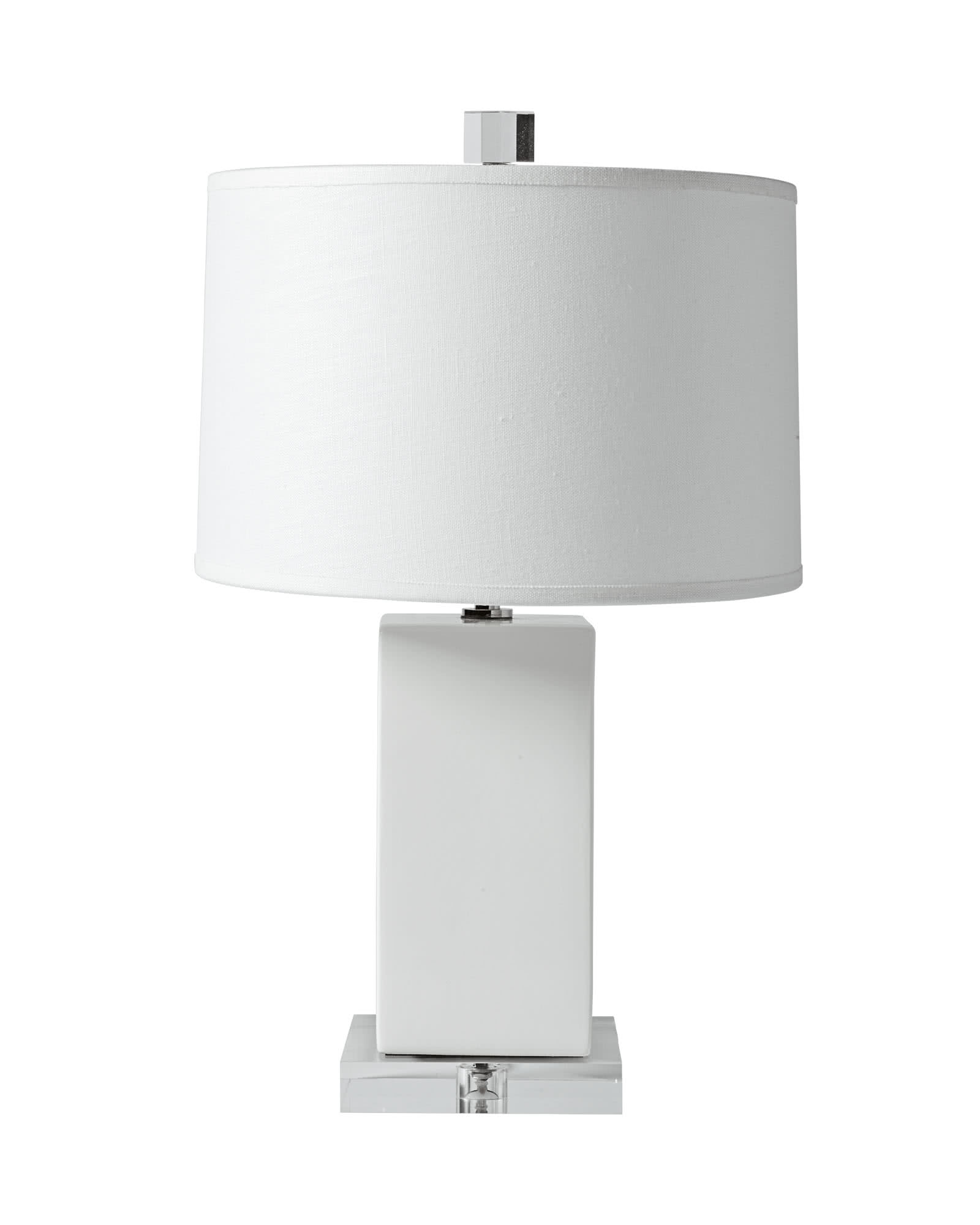 Darby Table Lamp, White