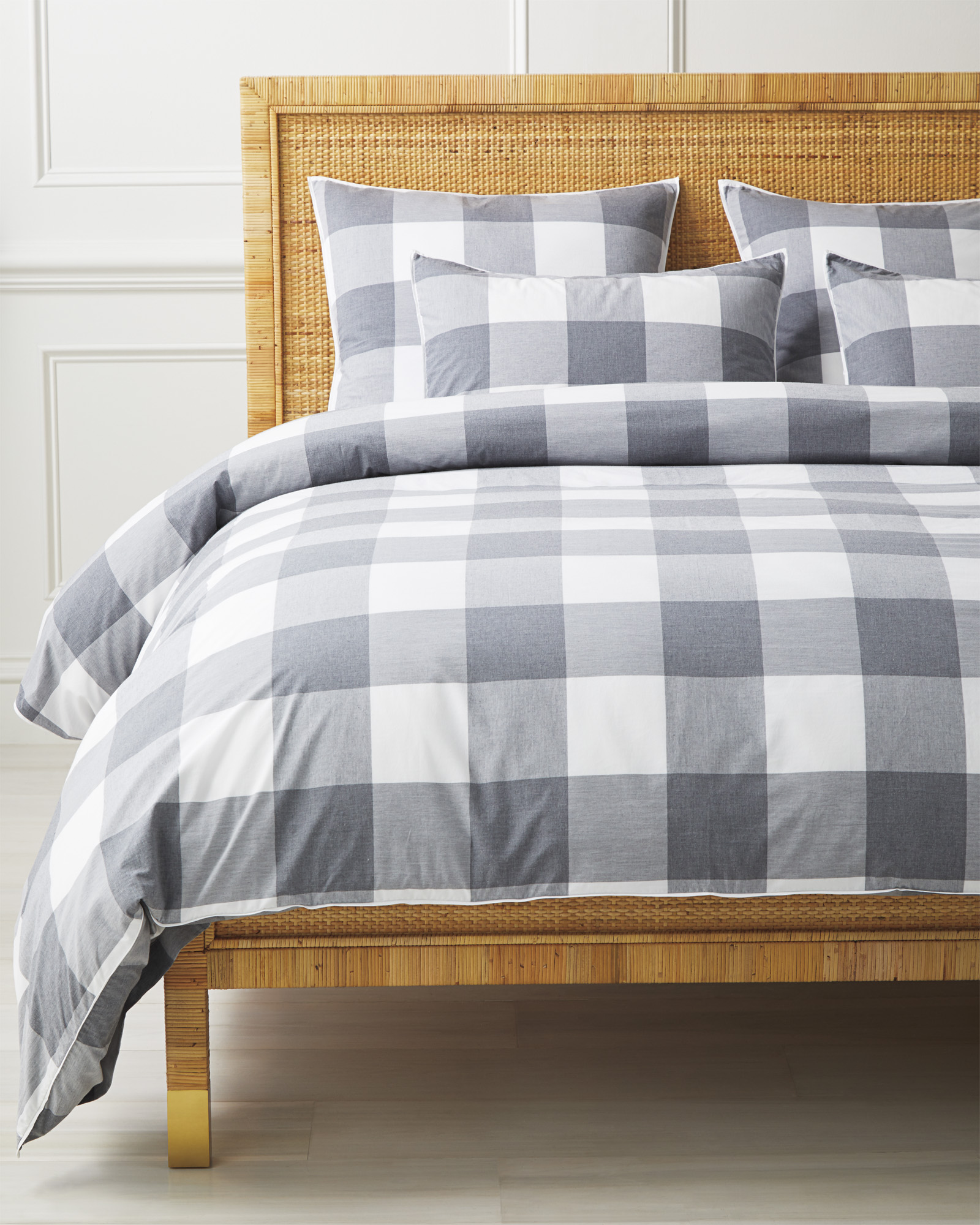Gingham Bedding Set, Smoke